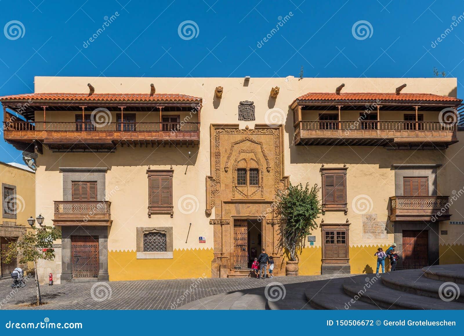 Kolumb dom w Las Palmas De Gran Canaria, Hiszpania