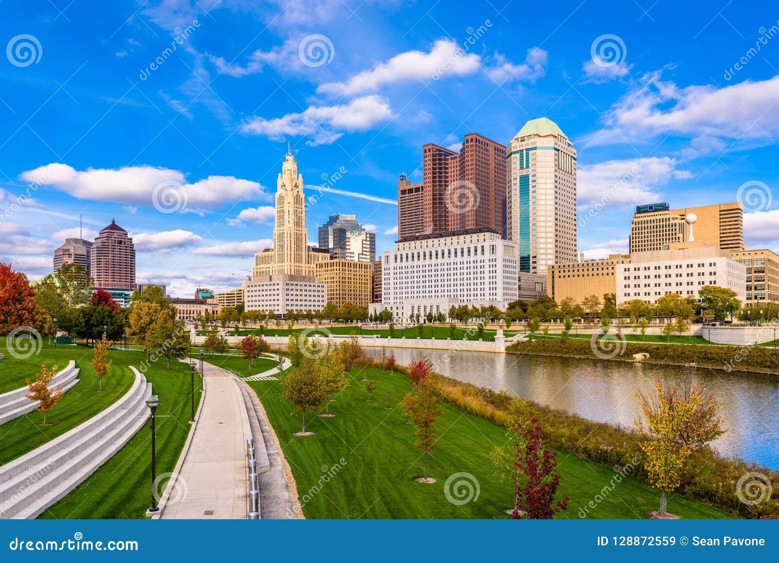 Kolumb, Ohio, usa linia horyzontu