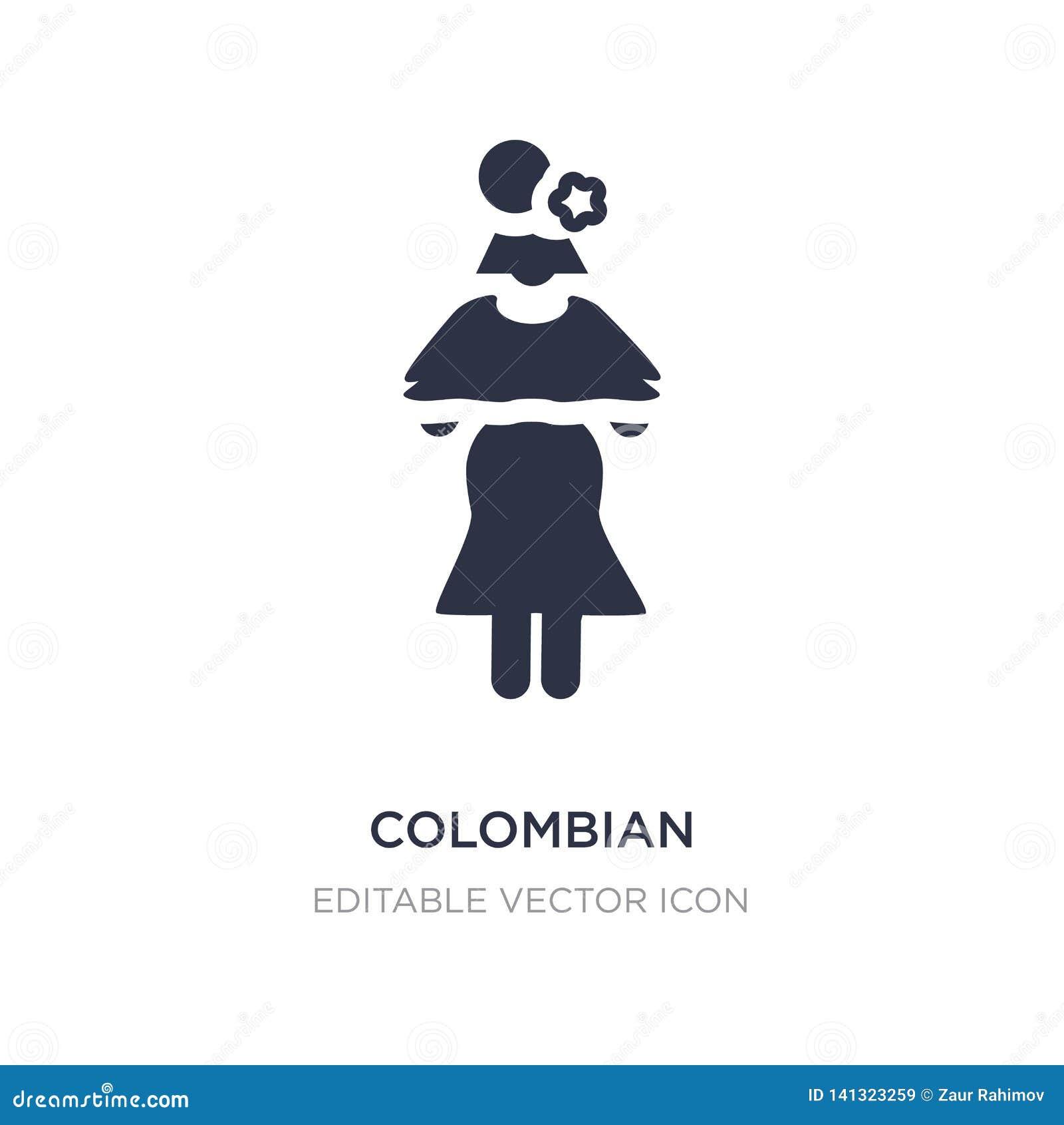 Kolumbijska ikona na białym tle Prosta element ilustracja od ludzi pojęć
