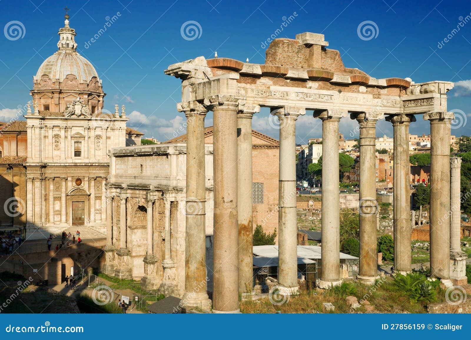 Kolumny Świątynia Saturn, Rzym