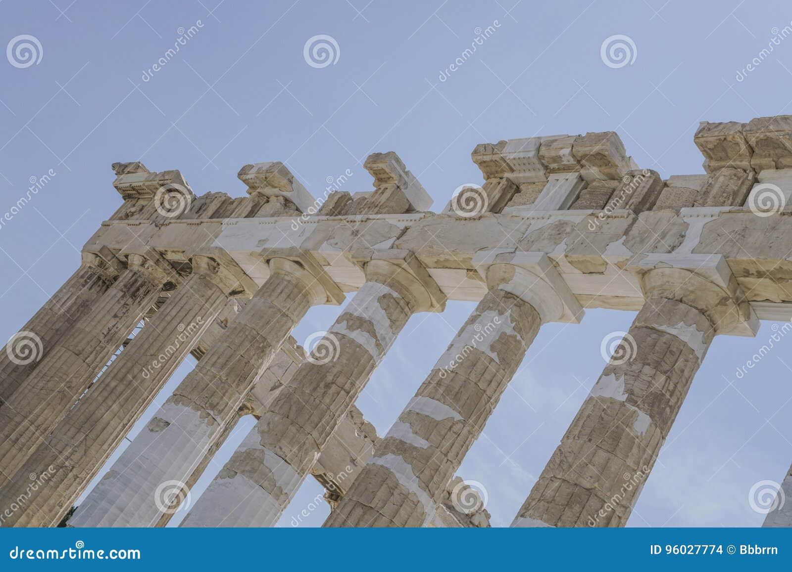 Kolumny na Ateńskim akropolu w Ateny, Grecja