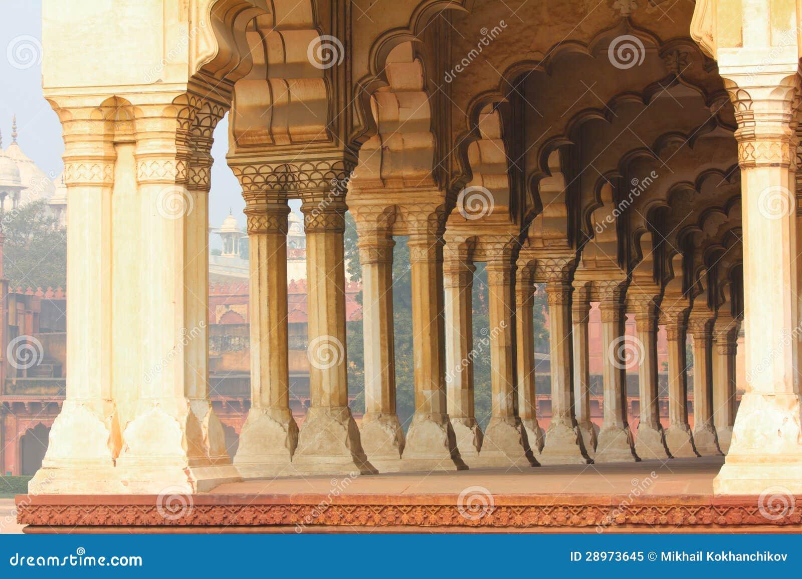 Kolumny w pałac - Agra fort
