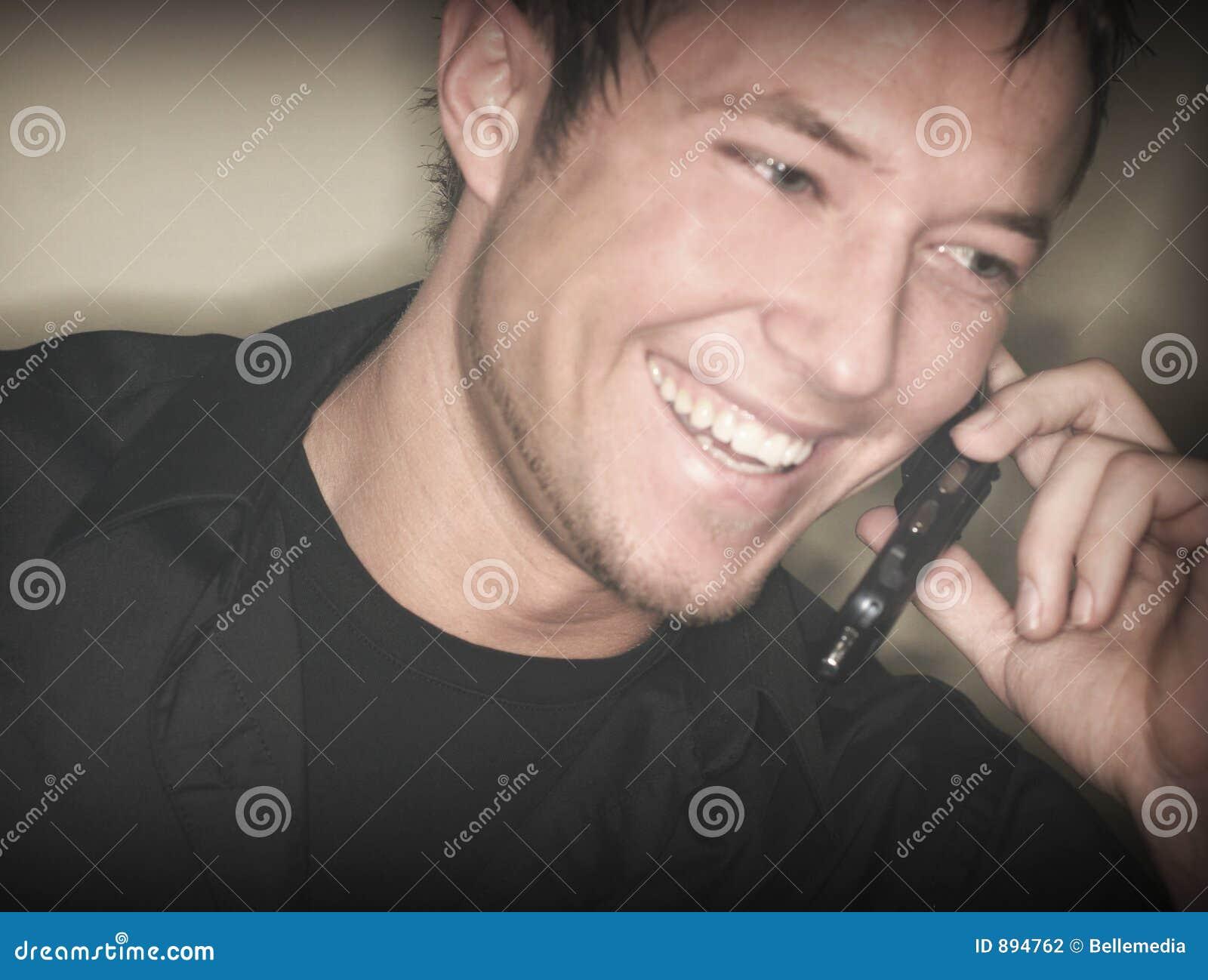 Komórka człowieka z telefonu dziki