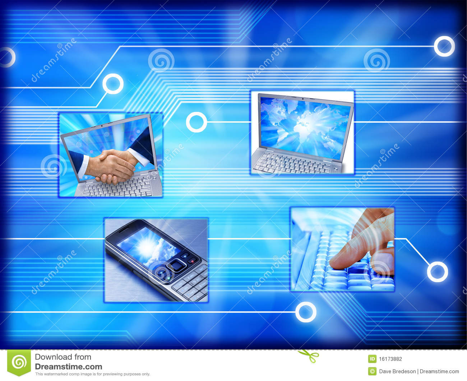 Komórki handlu komputeru e telefon
