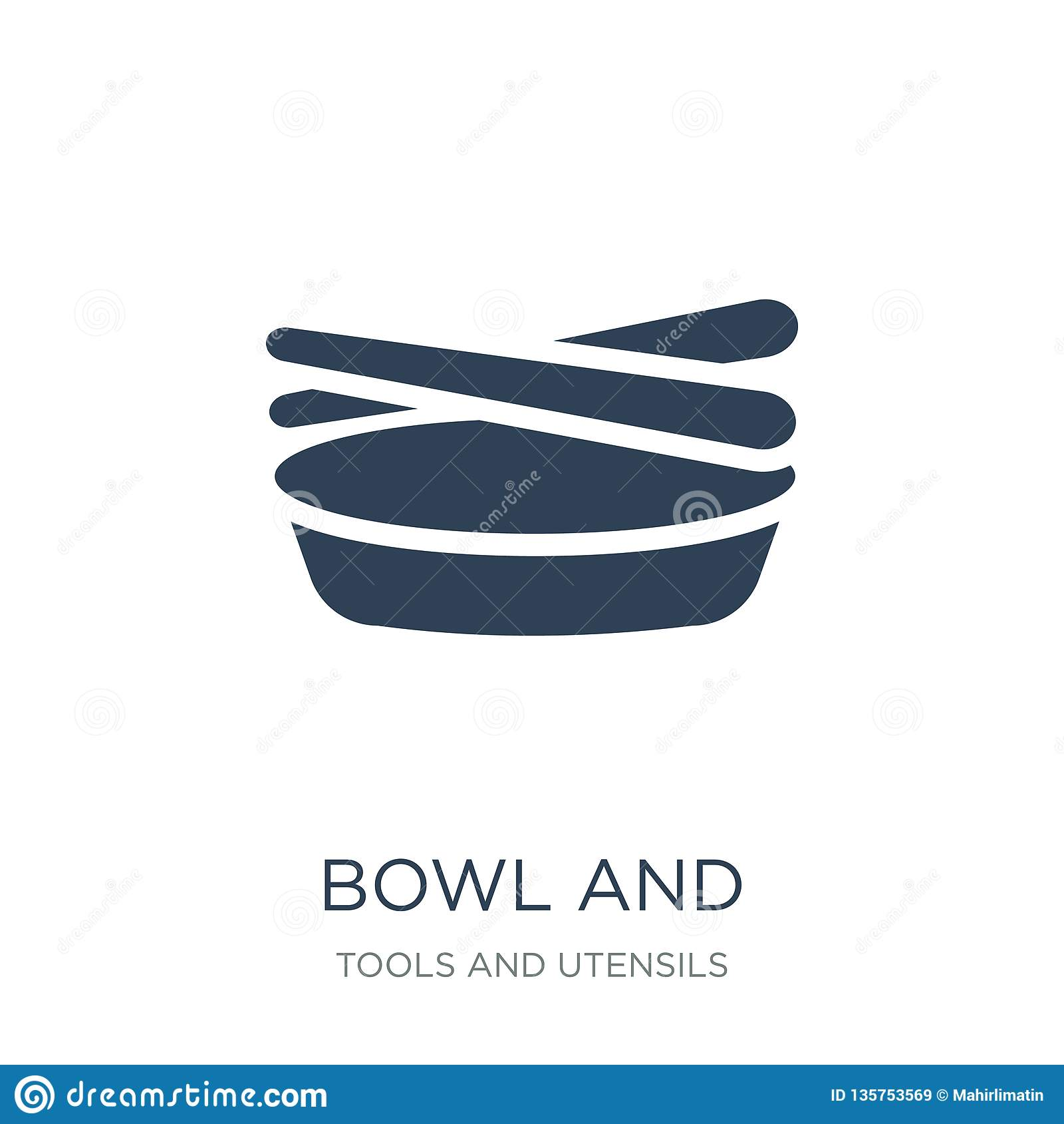 Kom en eetstokjes van het pictogram van Japan in in ontwerpstijl kom en eetstokjes van het pictogram van Japan op witte achtergro