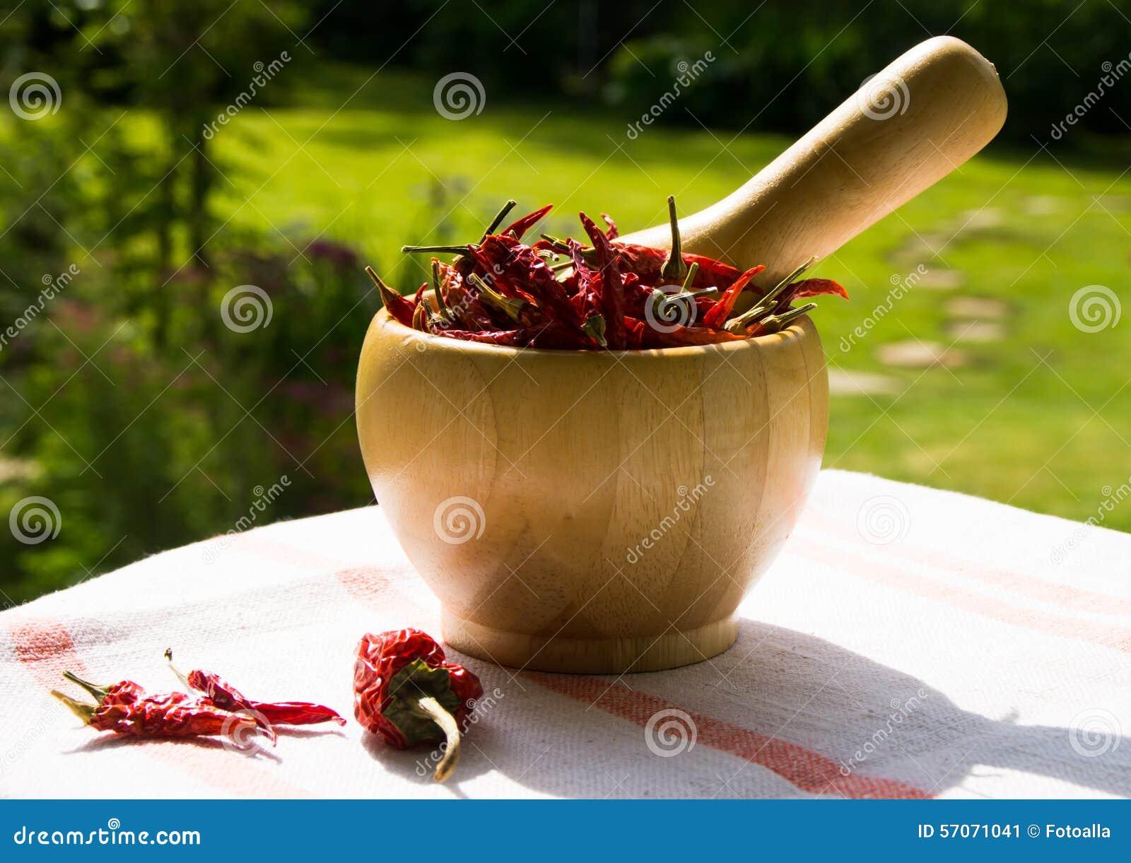 Kom van Spaanse peper