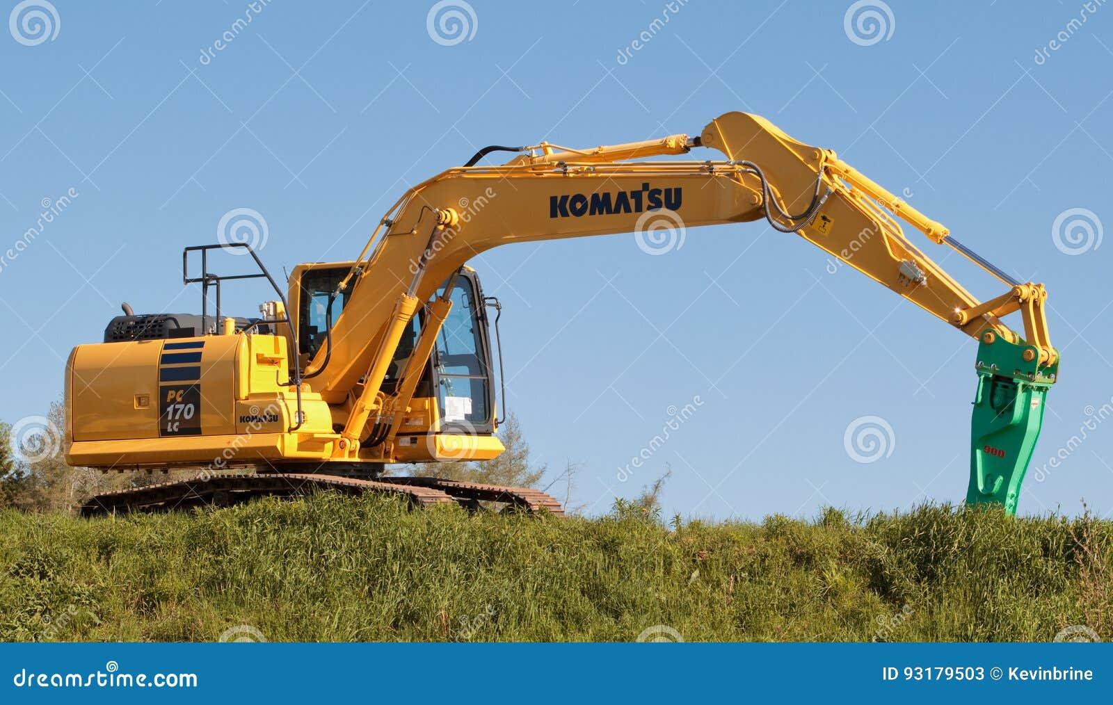 Komatsu Excavator editorial stock photo  Image of industrial