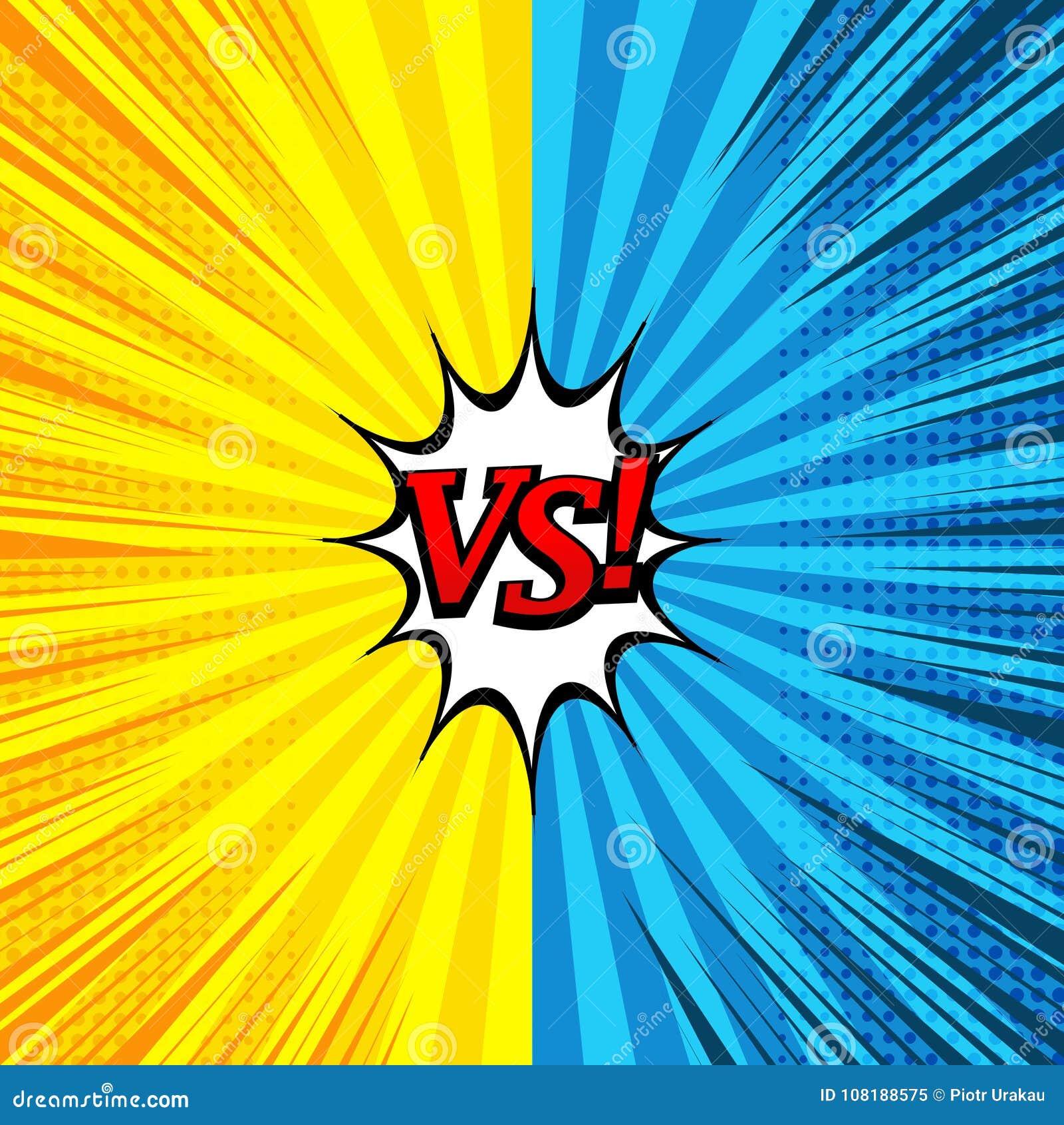 Komiczka versus jaskrawy tło