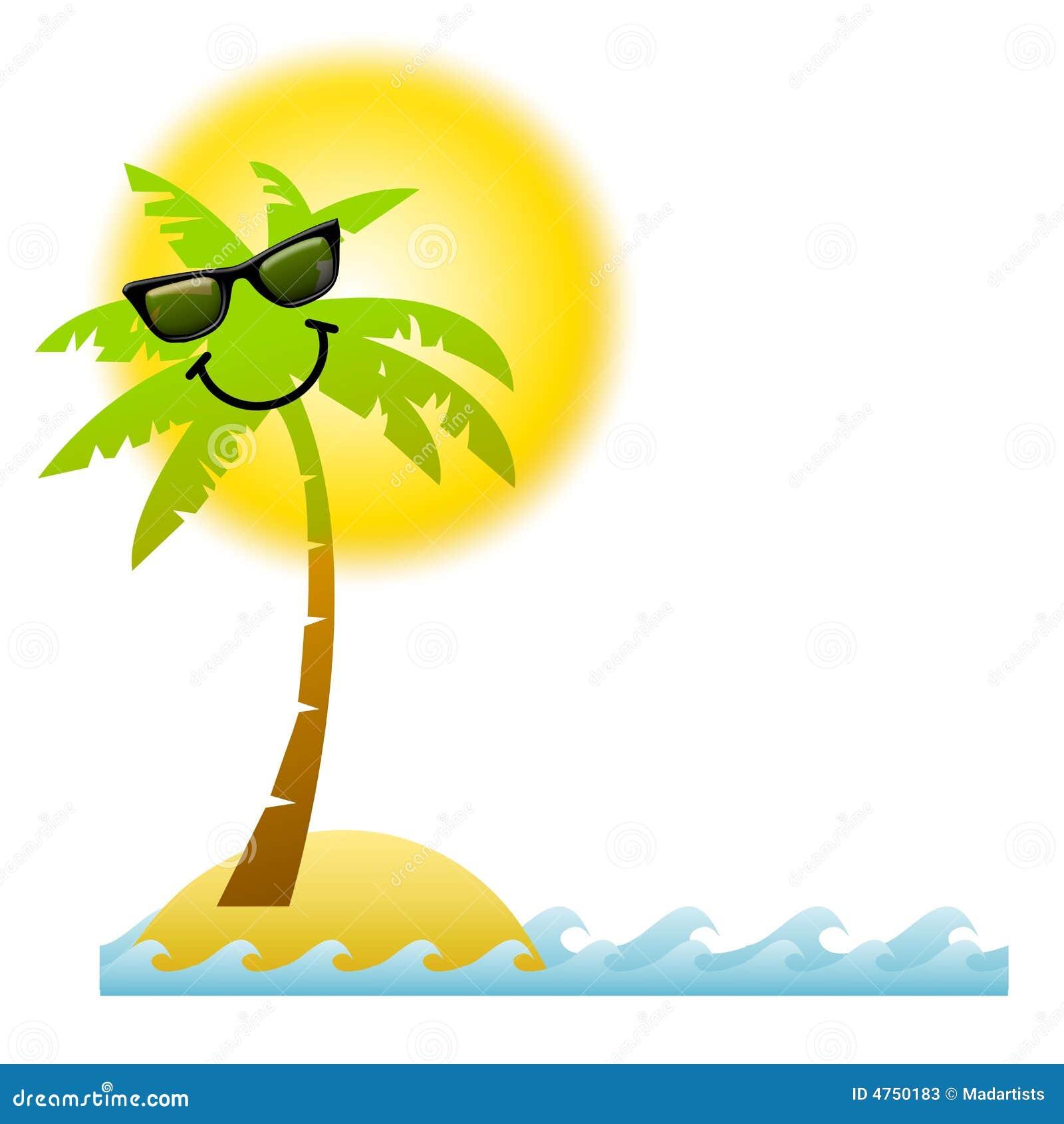 Komiks okulary palmowi drzew