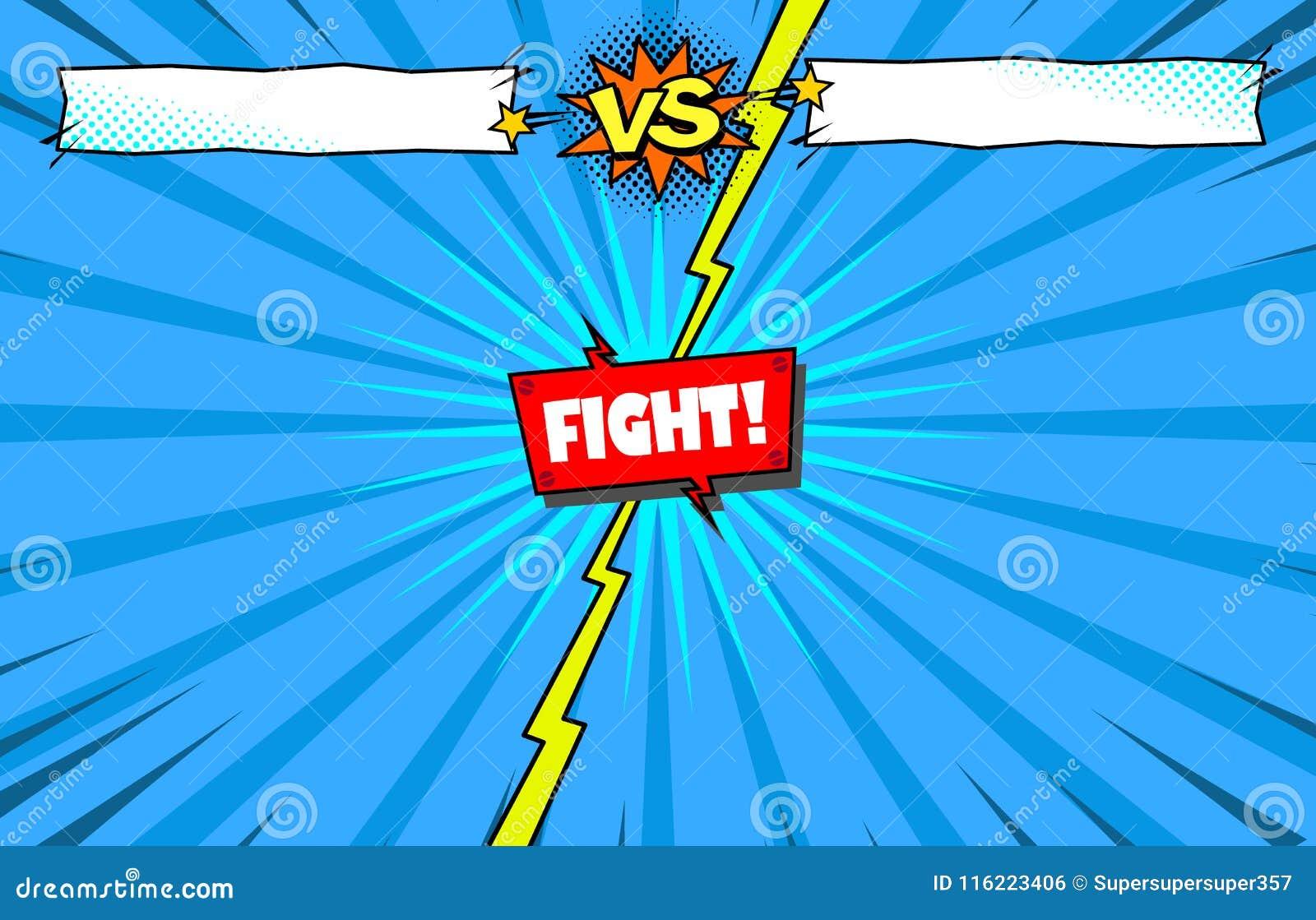 Komiks versus walka szablonu tło, bohatera batalistyczny wstęp