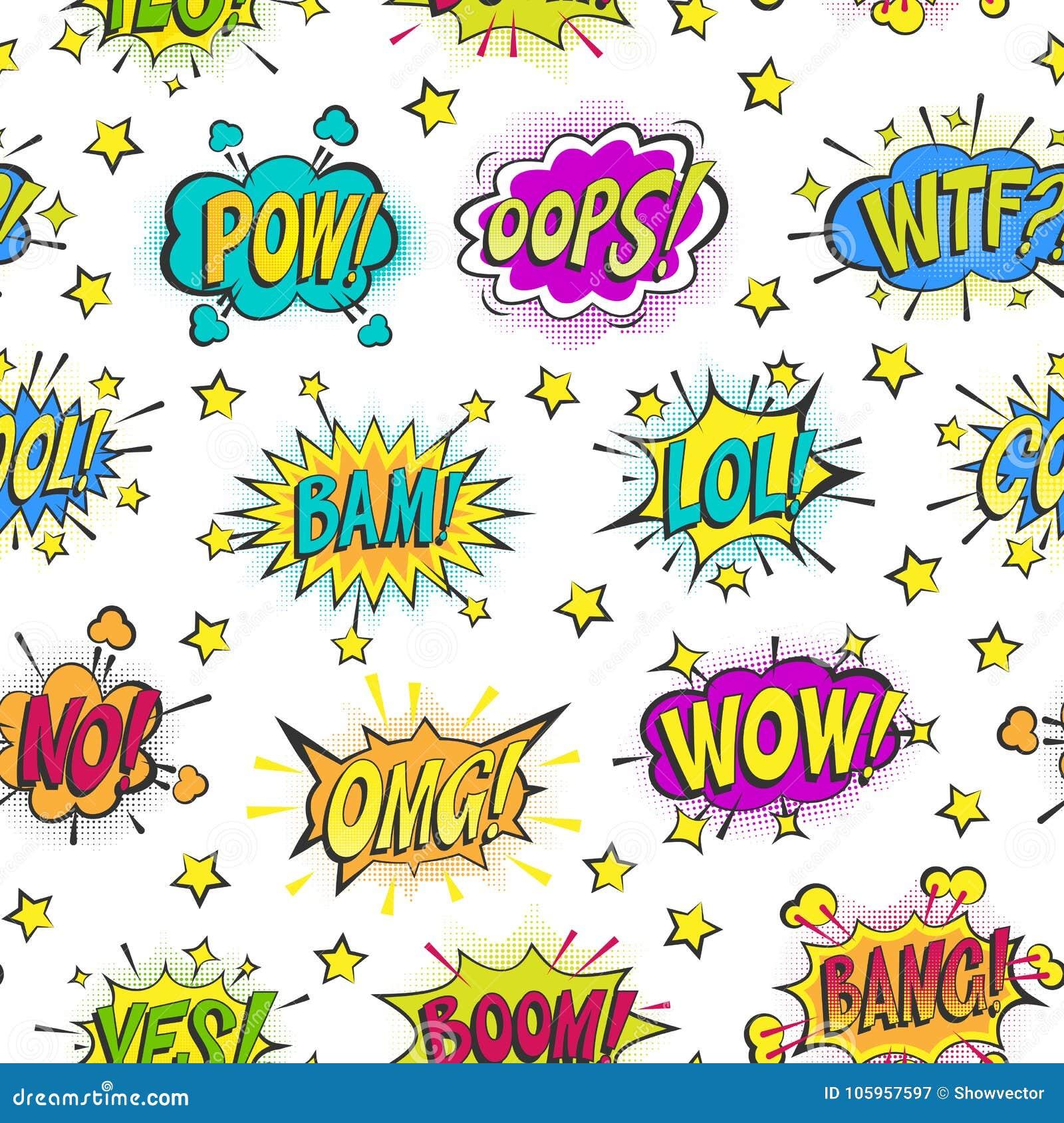 Komische Blasen der Pop-Art vector sprudelnde der bunten asrtistic Comicsformen Sprachewolke Karikatur popart Ballons an