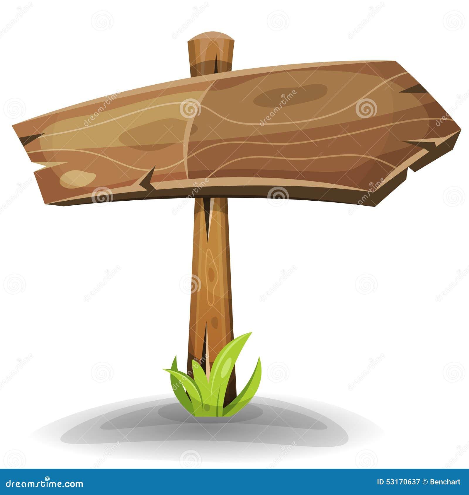 Komischer Holzschild Pfeil Vektor Abbildung Bild