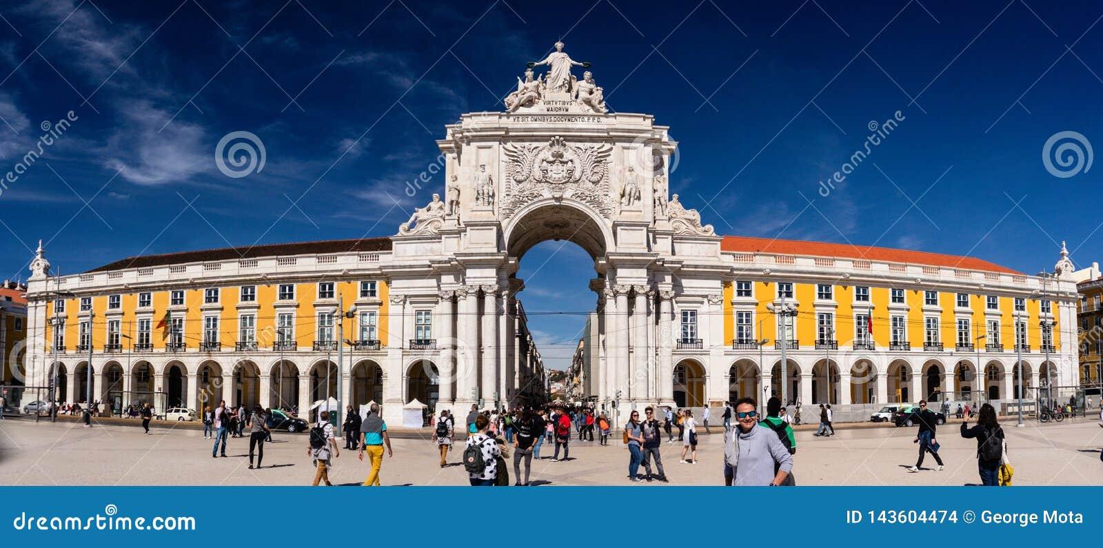 Kommersfyrkant, Rua Augusta Arch lisbon portugal