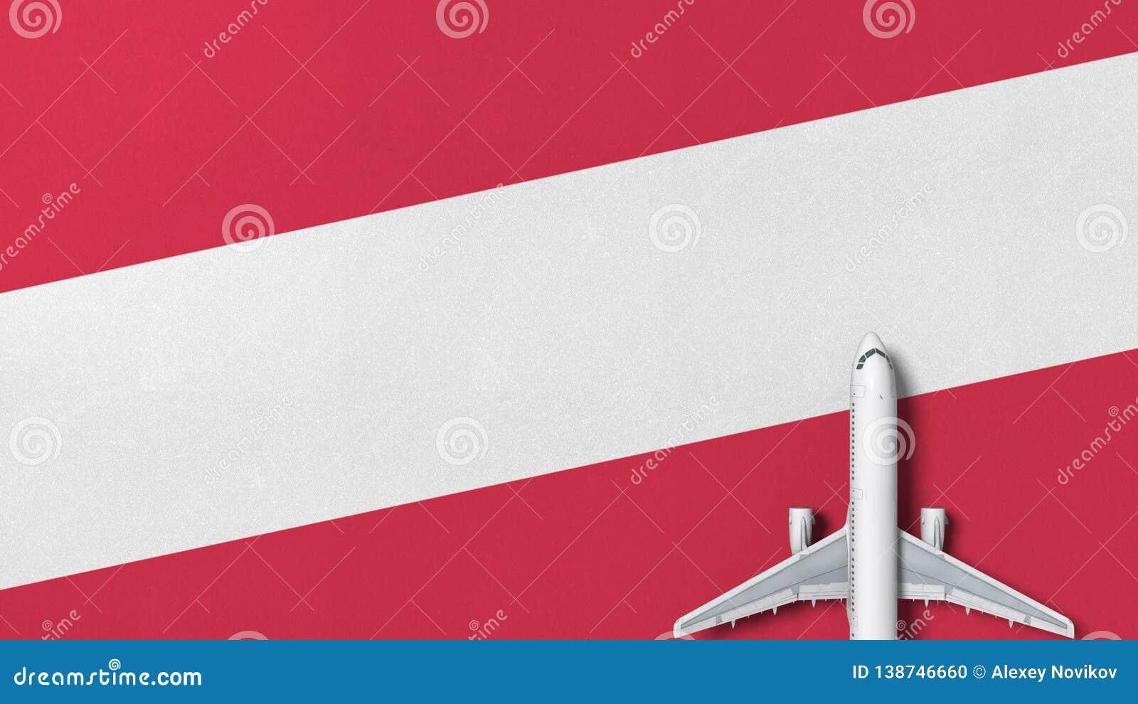 Kommersiellt flygplan på flaggan av Österrike Loppet gällde den begreppsmässiga tolkningen 3D