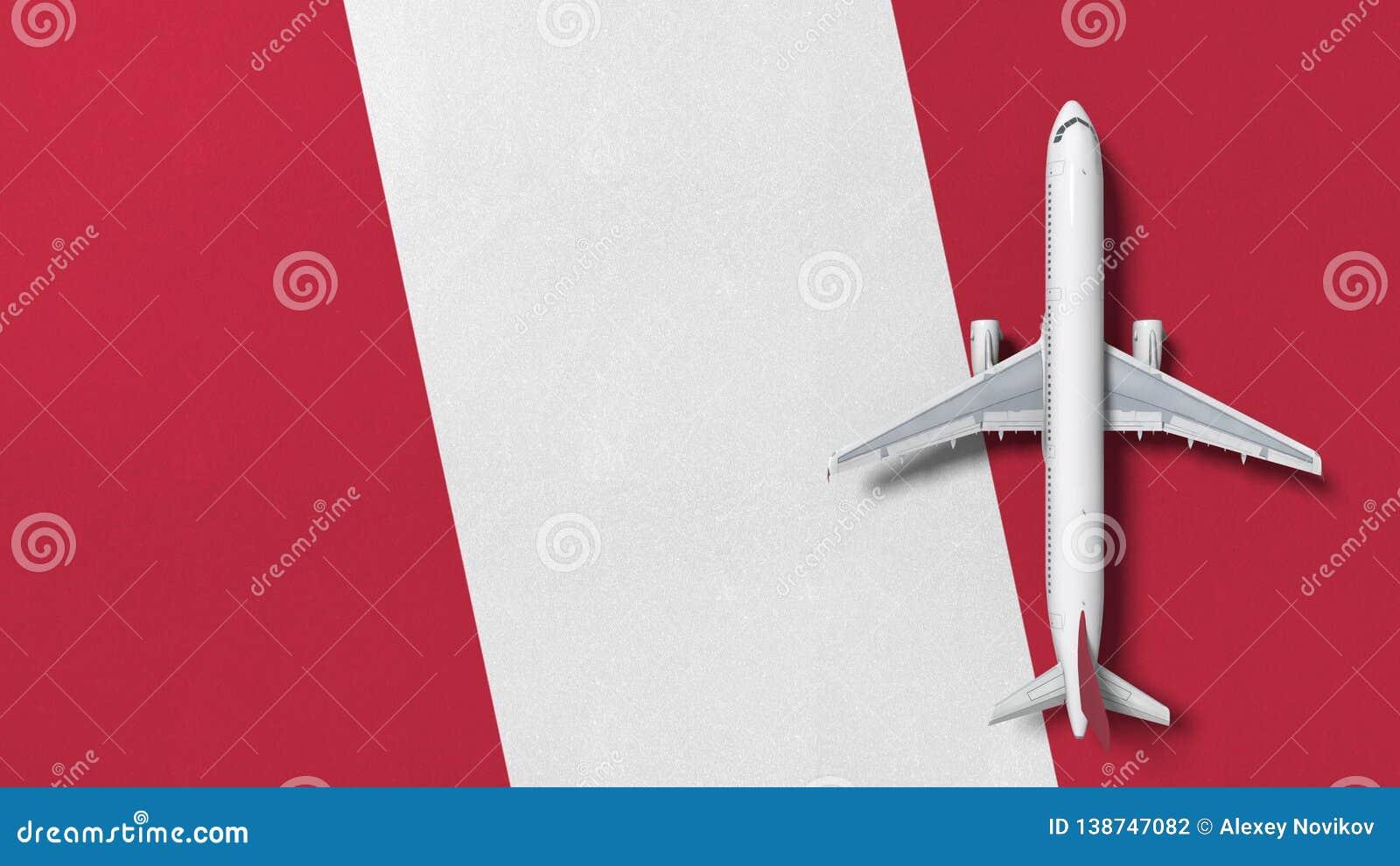 Kommersiellt flygplan på flaggan av Peru Loppet gällde den begreppsmässiga tolkningen 3D