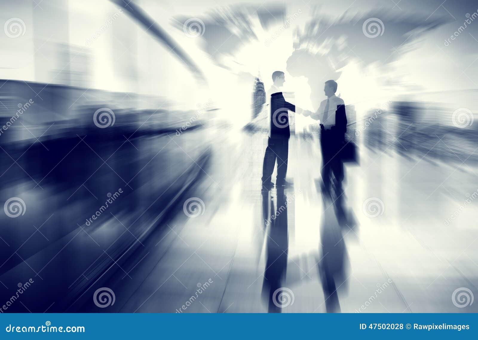Kommunikation Concep för affärsidéidéCoopration beslut