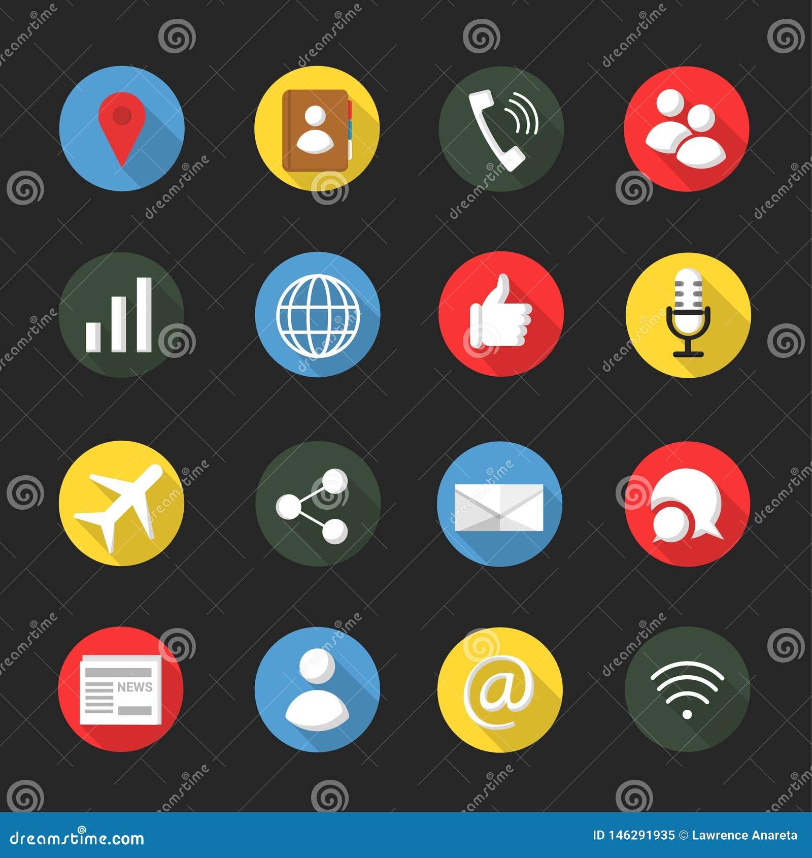 Kommunikation och social massmediasymbolsuppsättning
