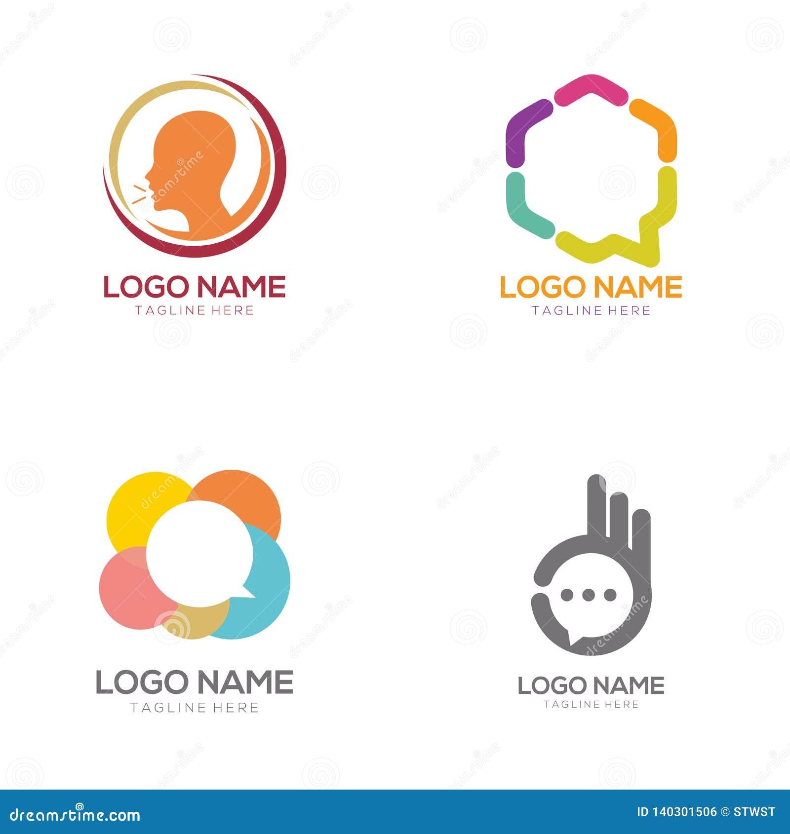 Kommunikationslogo och symbolsdesign