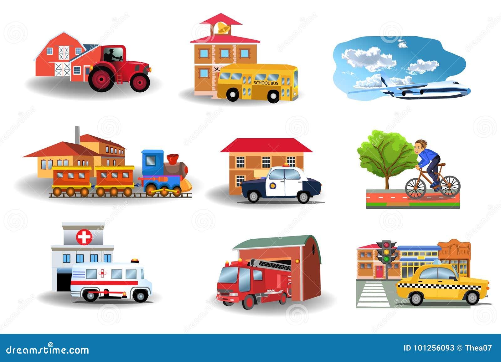 Kommunikationsmedel och deras byggnader