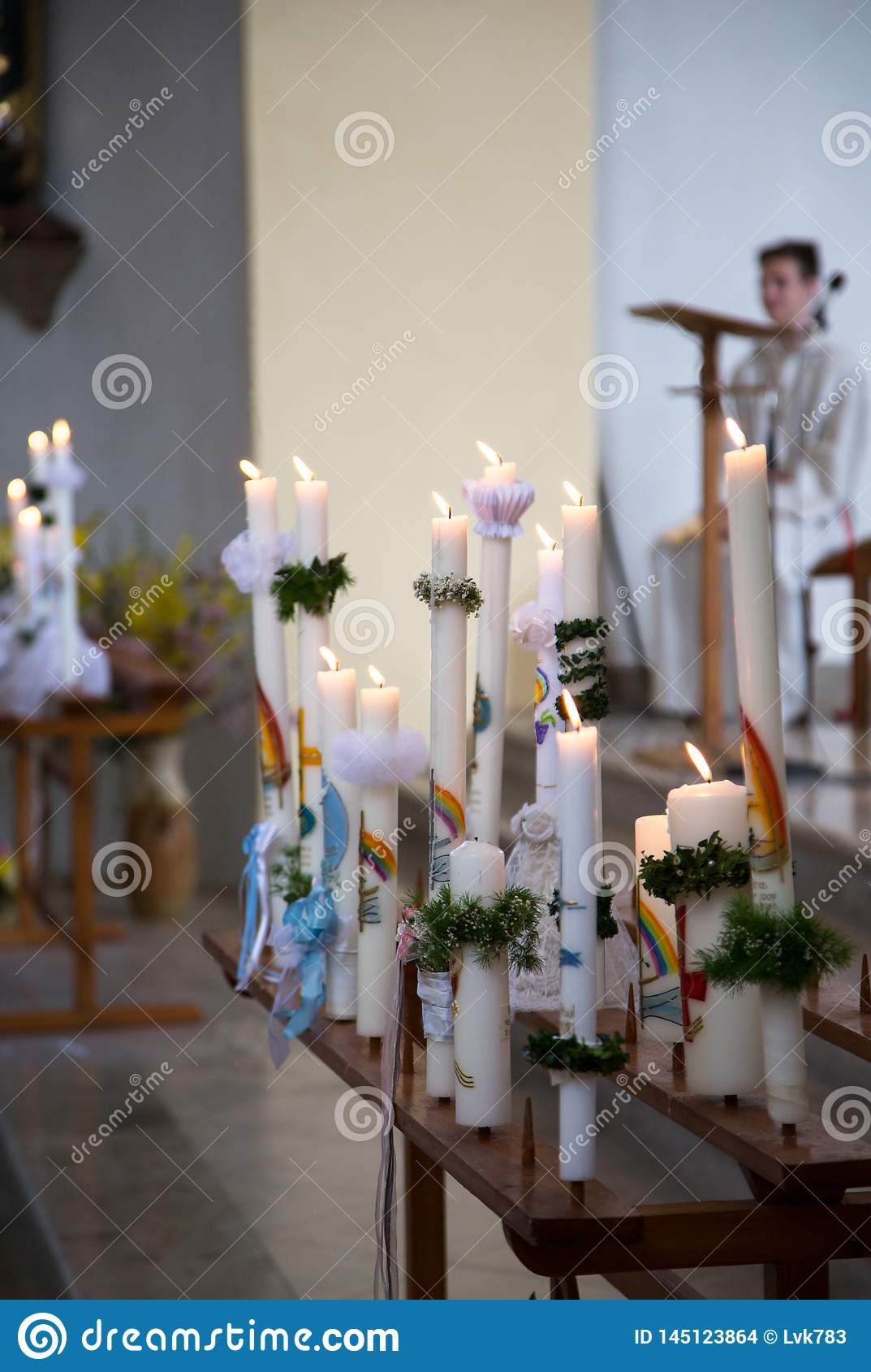 Communion candles in the Catholic Church