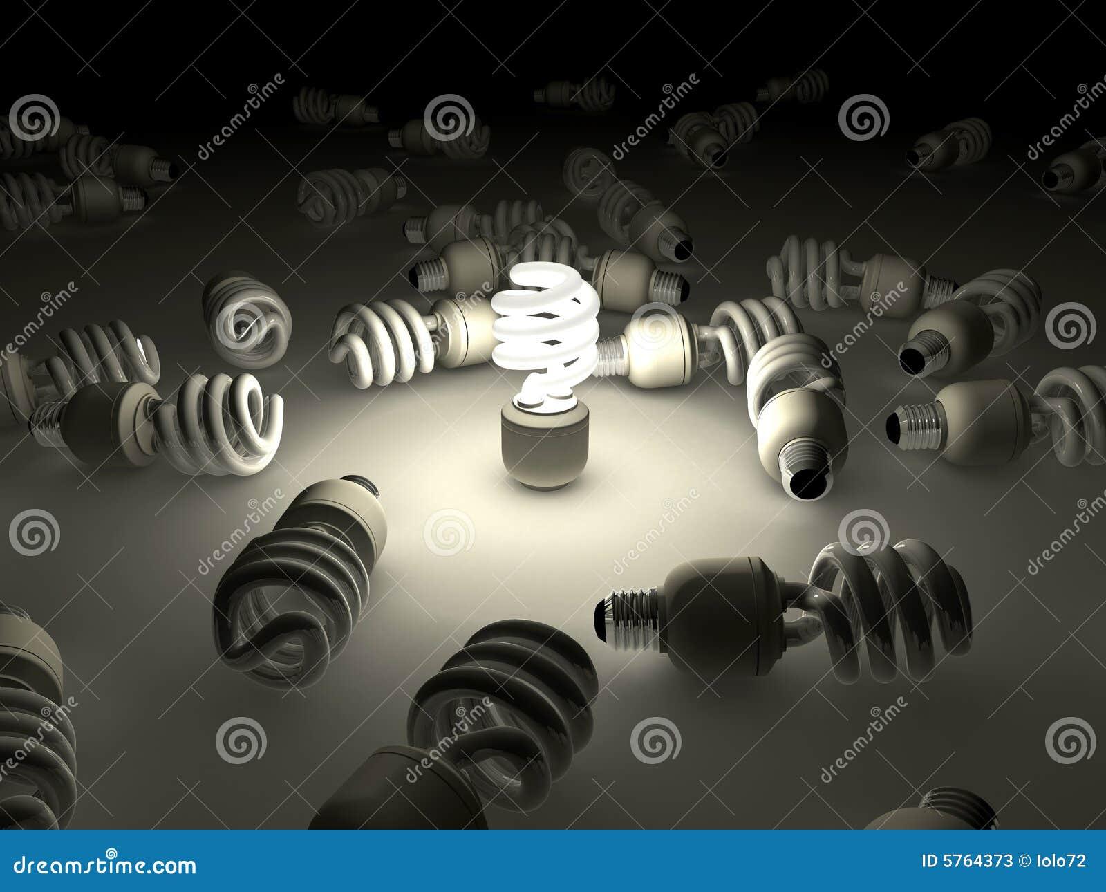 Kompakt lysrör för kula