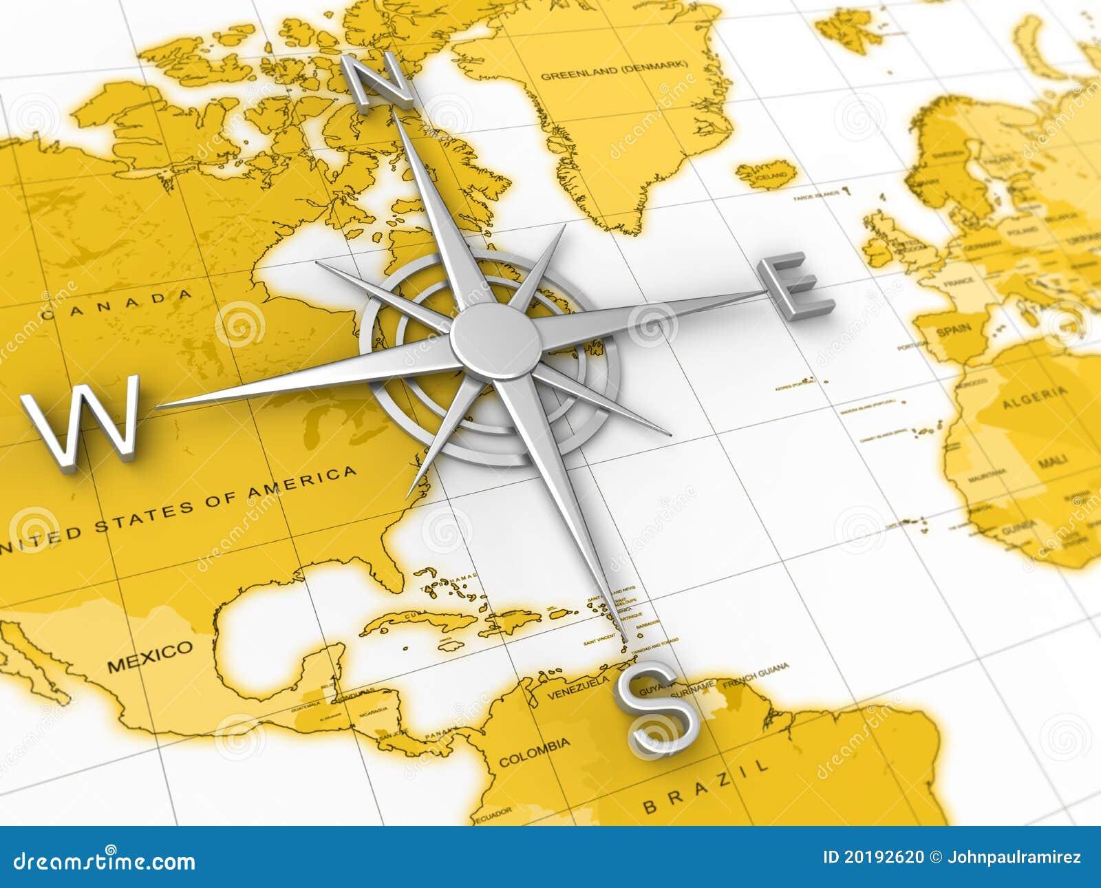 Kompas, wereldkaart, reis, expeditie, aardrijkskunde