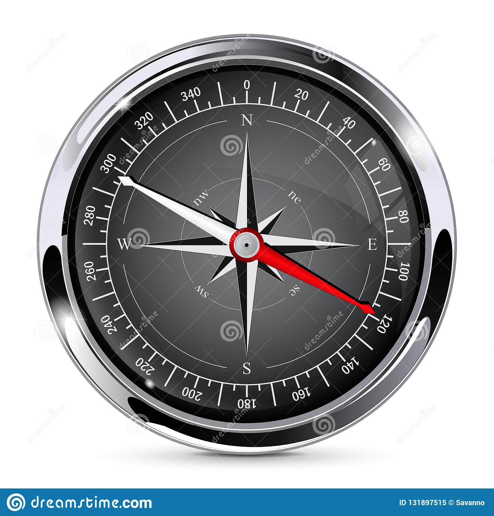 Kompass som bakgrund kan inramning metallbruk