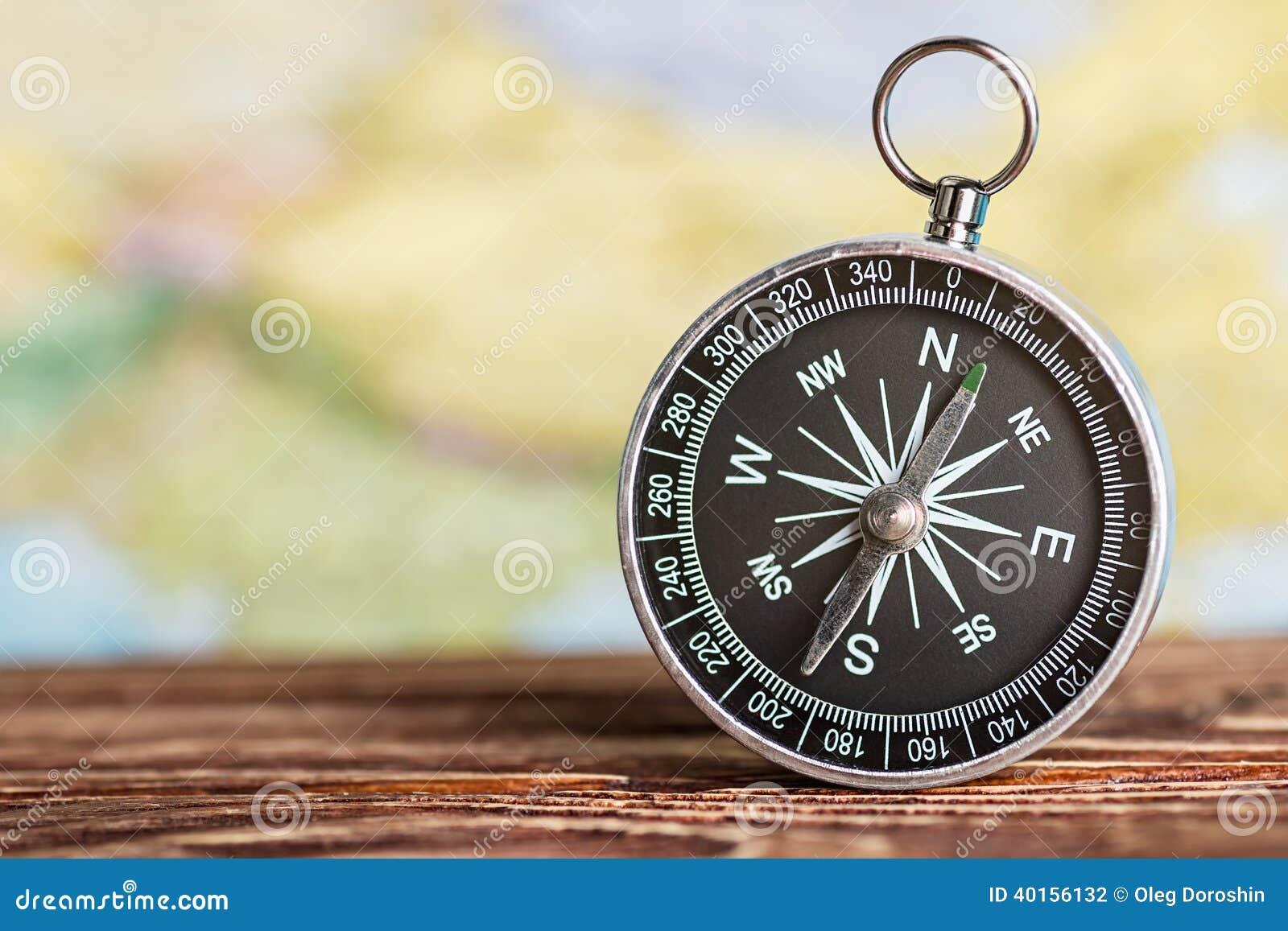 Kompass som visar riktningen