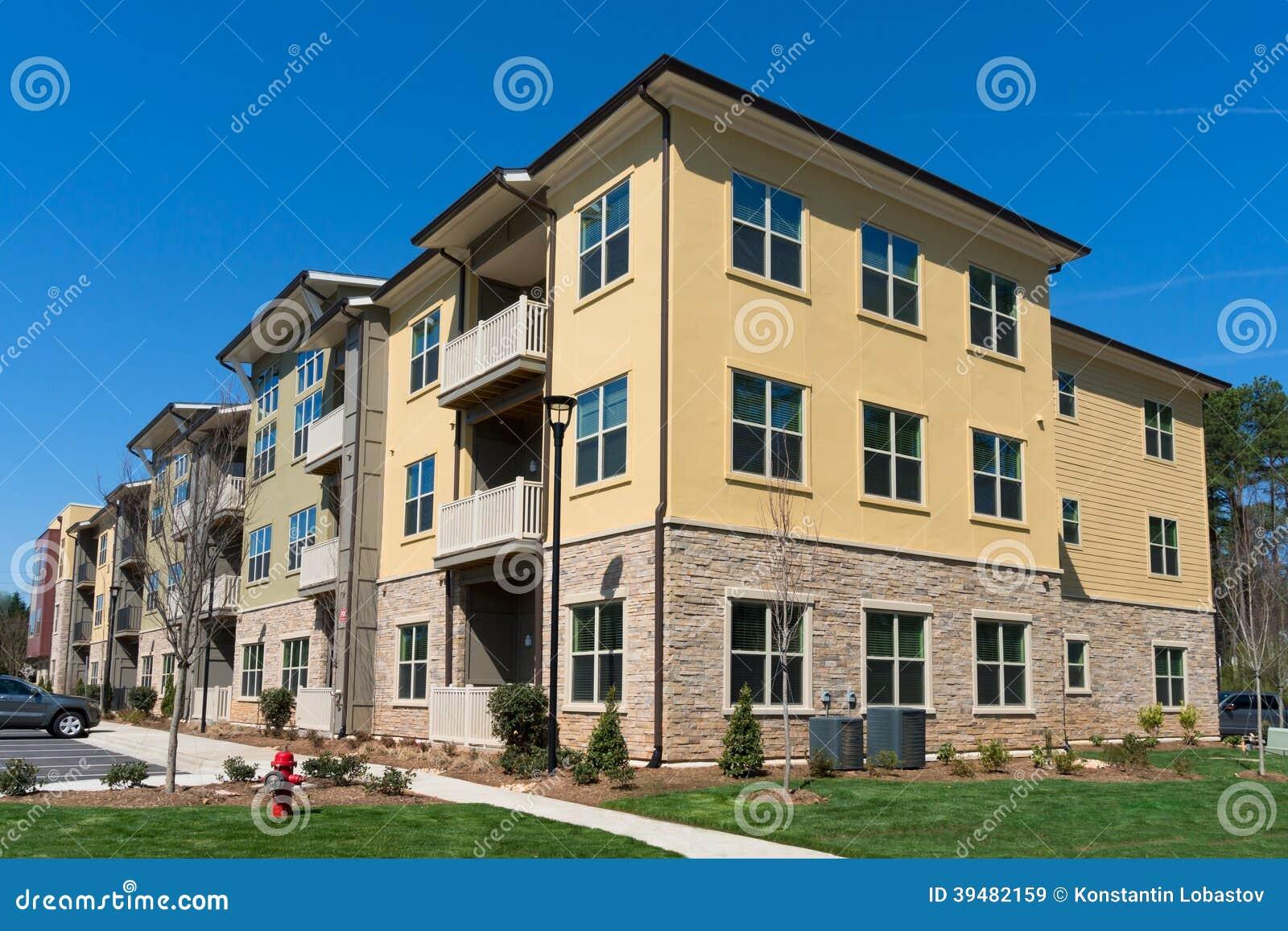 Kompleks apartamentów powierzchowność
