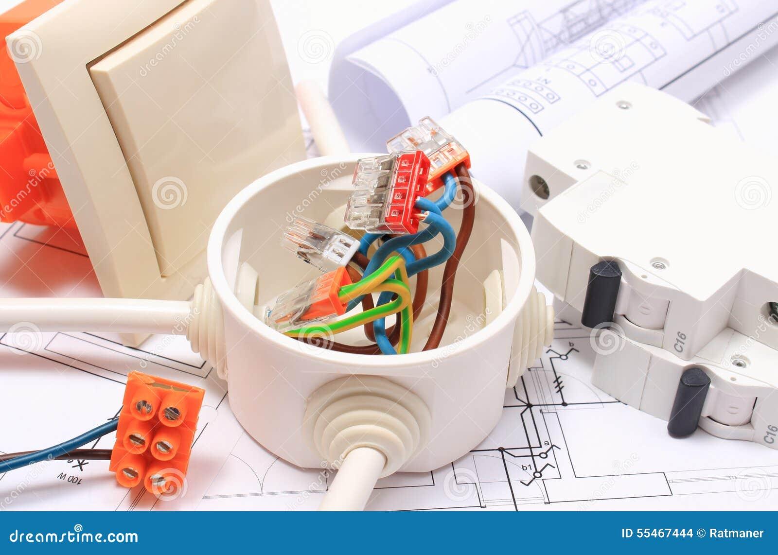 Komponenten Für Elektrische Installationen Und Baudiagramme ...