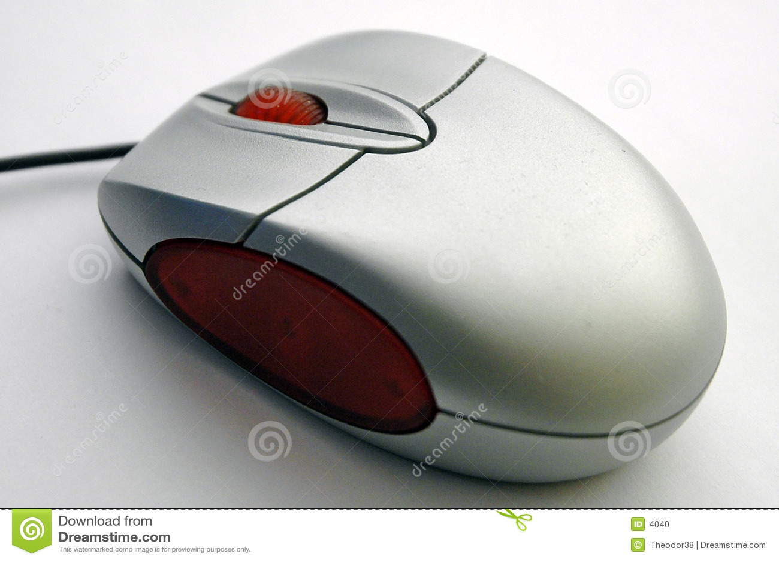 Komputer diagonalny mysz widok