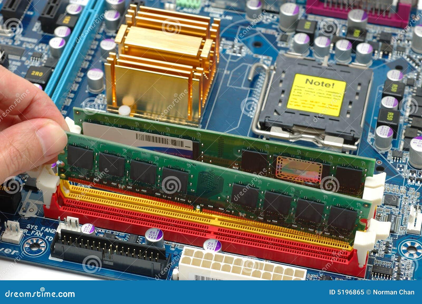 Komputer jest zainstalowany ram