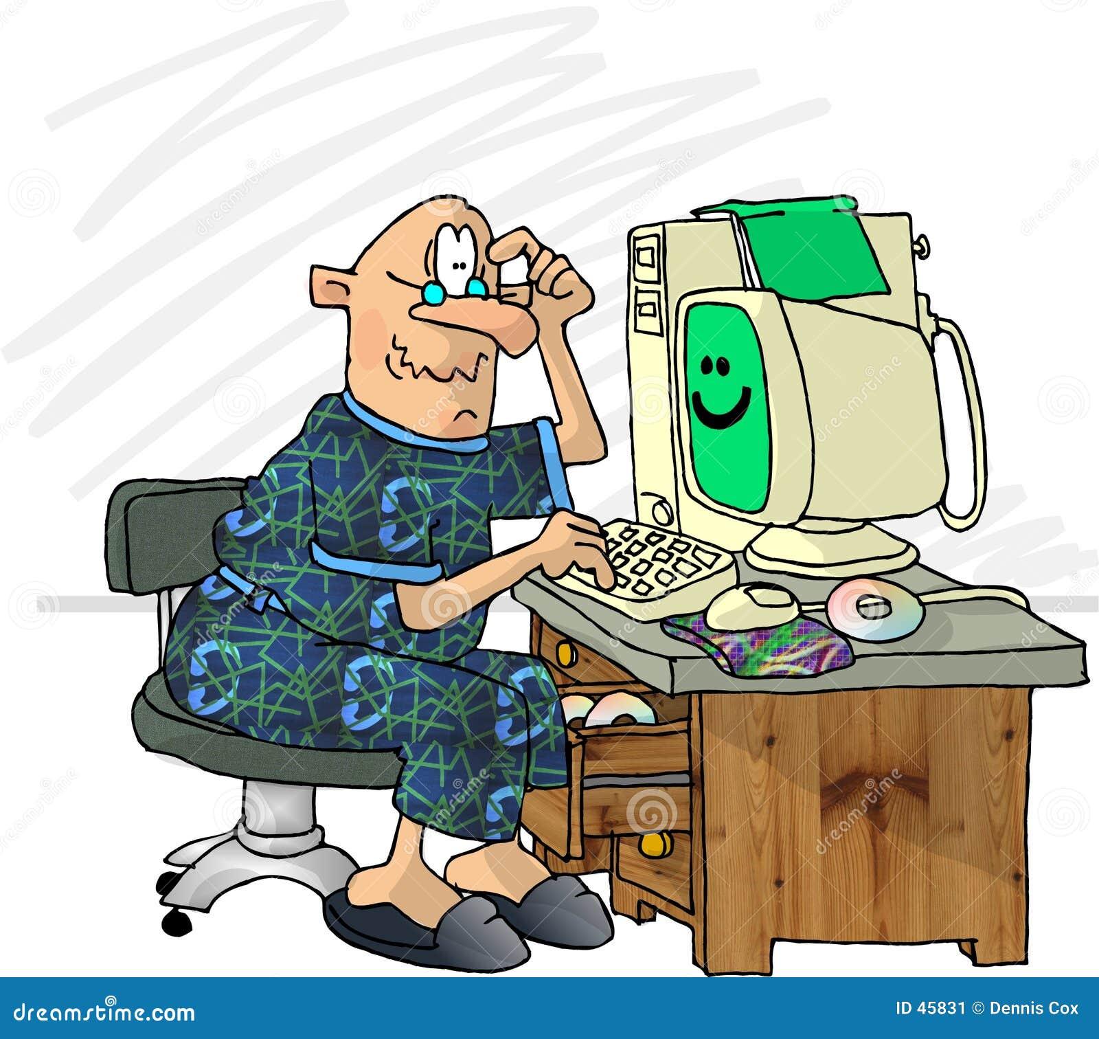 Komputer sfrustrowany użytkownika