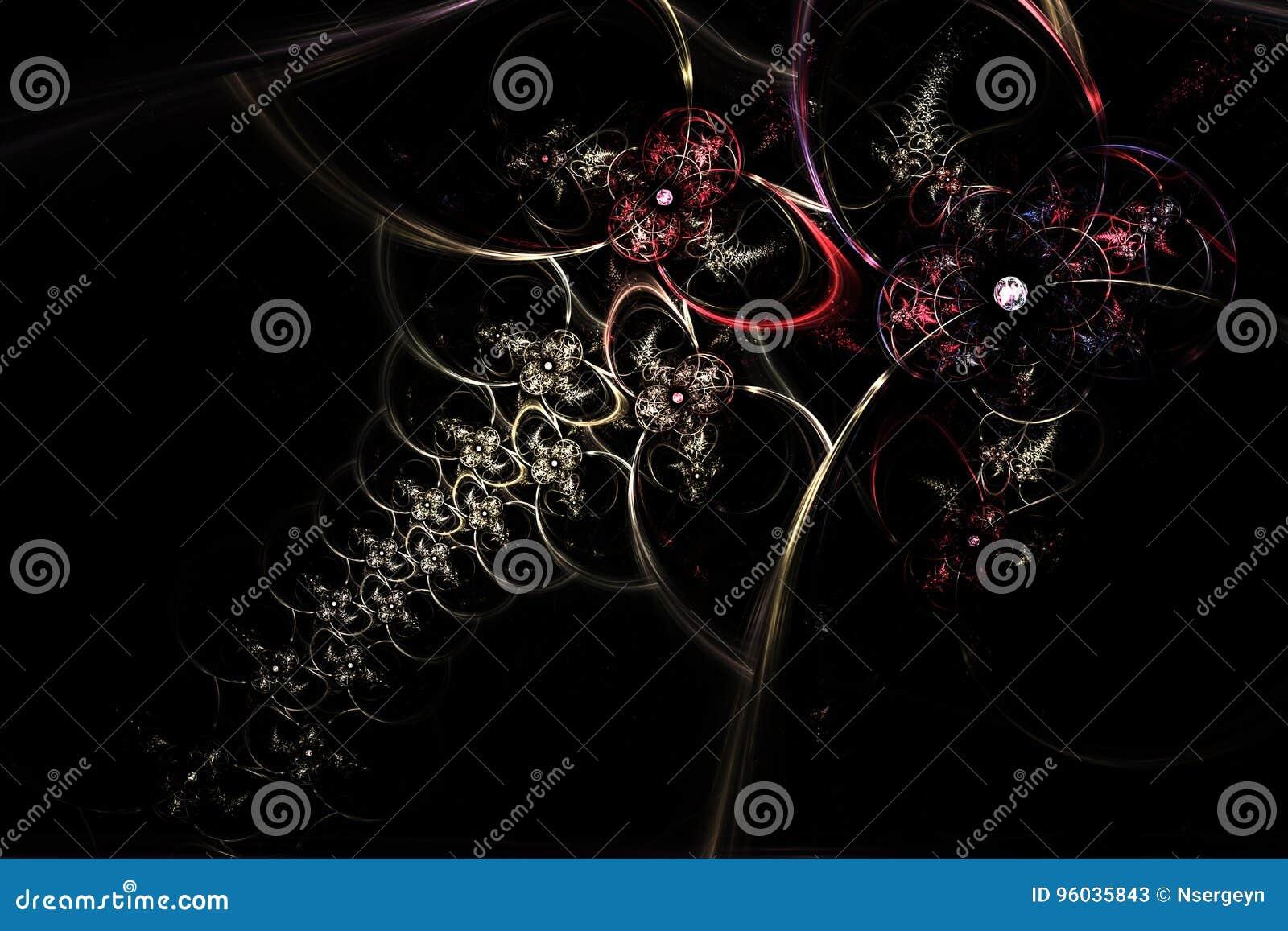 Komputer wytwarzający fractal wizerunek