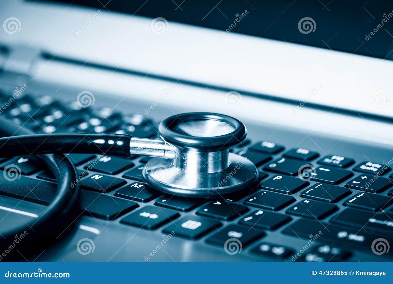 Komputerowa analiza używać stetoskop