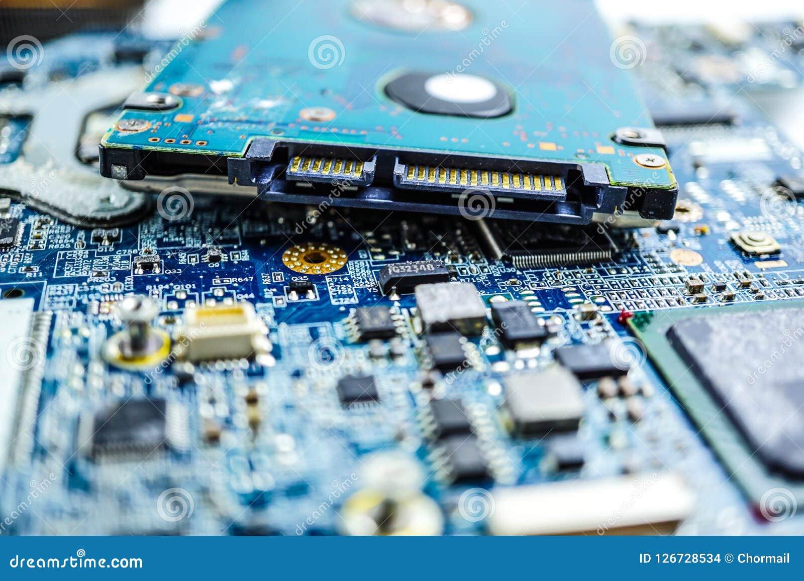 Komputerowego obwodu jednostki centralnej układu scalonego mainboard sedna procesoru elektronika przyrząd