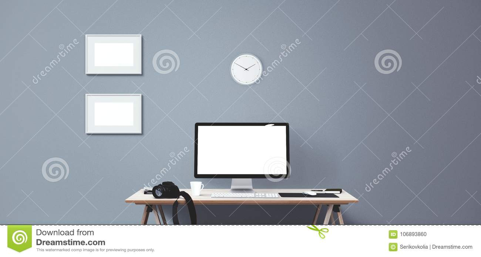 Komputerowego pokazu i biura narzędzia Komputeru stacjonarnego ekran