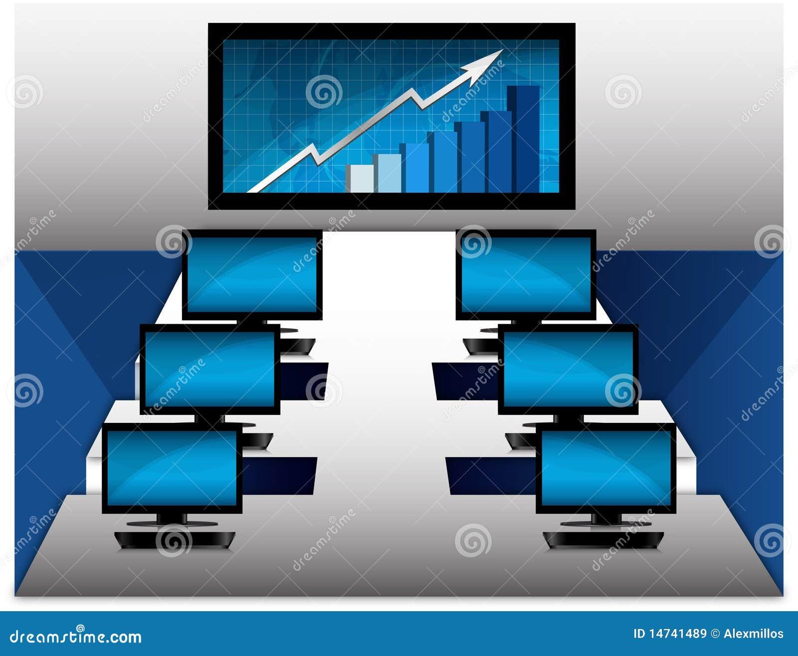 Komputerowego pokoju wektor