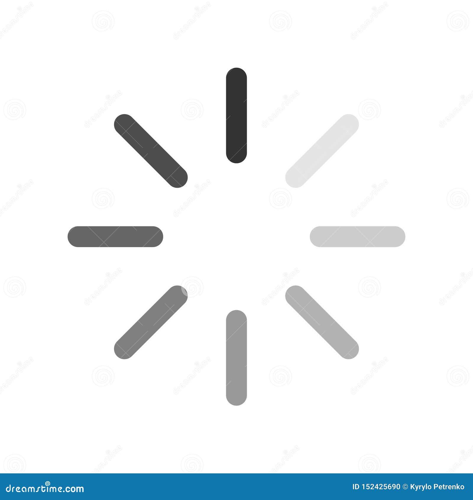 Komputerowej ładowniczej ikony tylny i biały tło