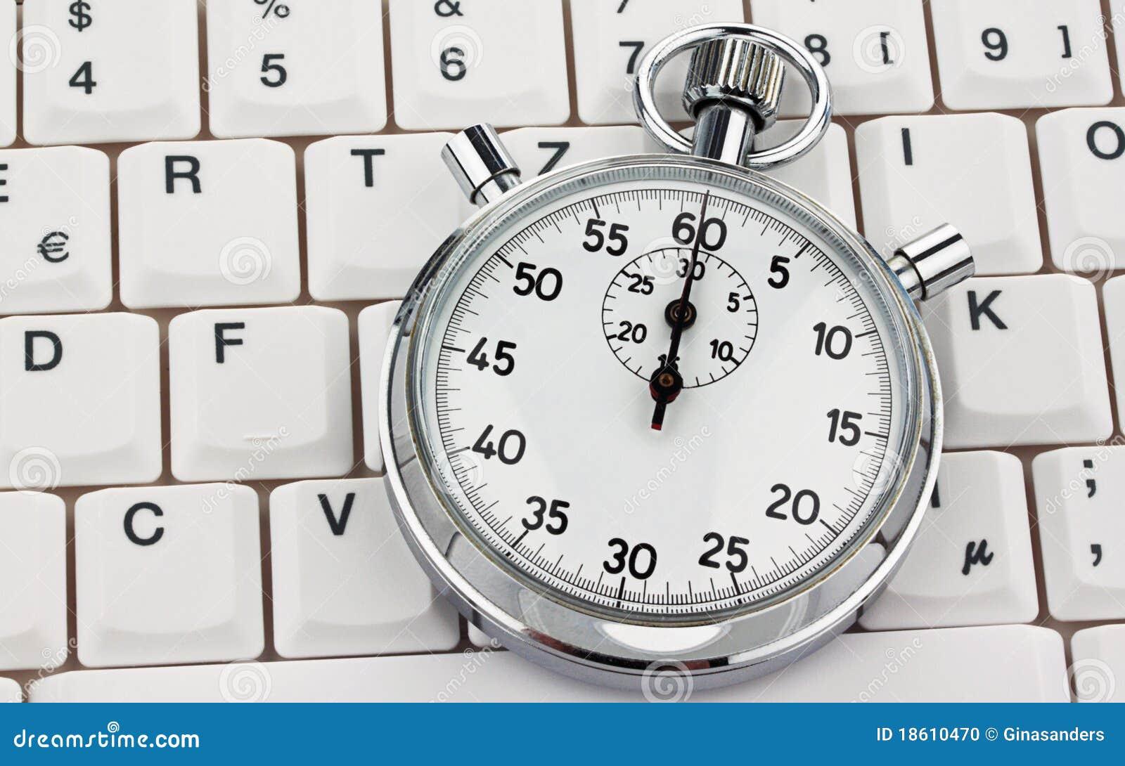 Komputerowej klawiatury stopwatch