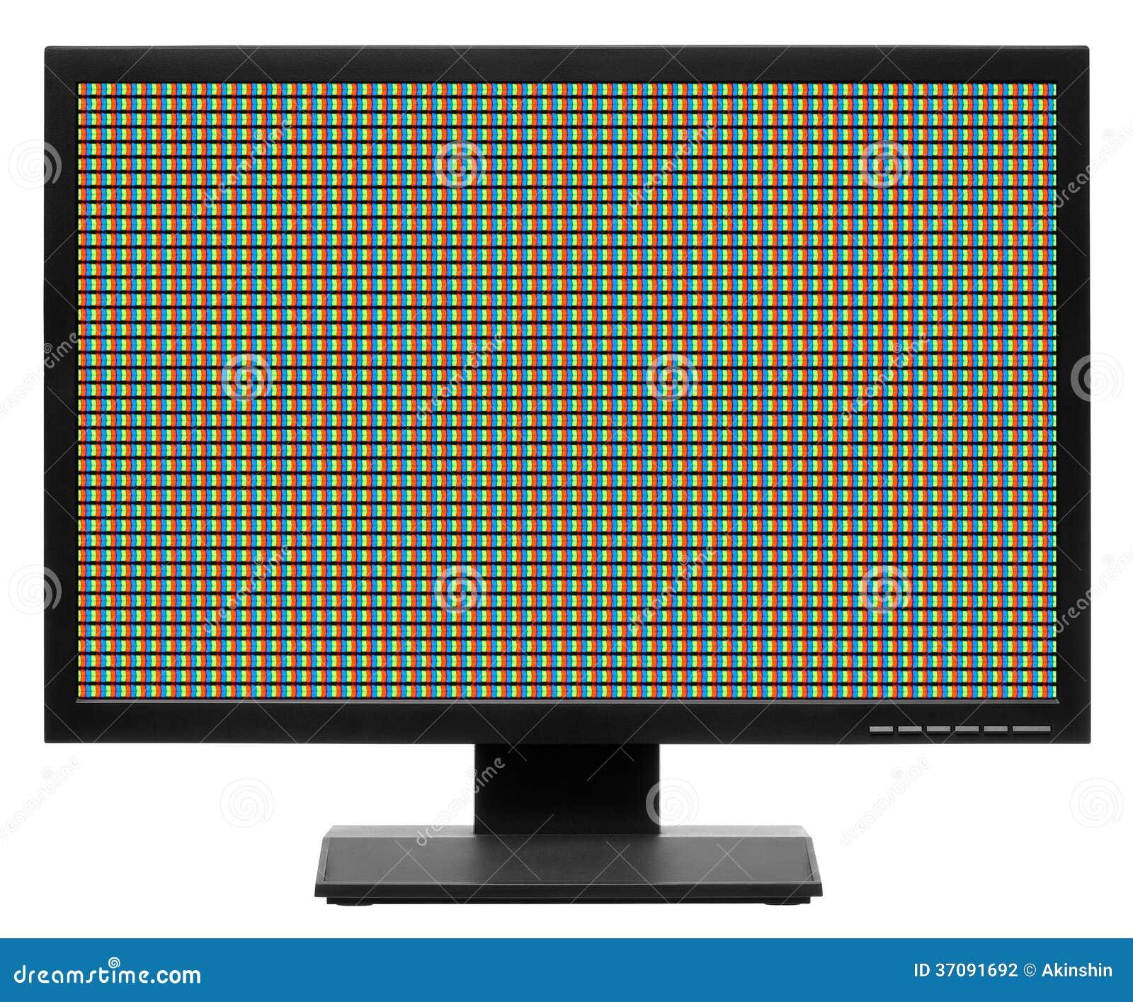 Download Komputerowy Pokaz Tv Lub Lcd Zdjęcie Stock - Obraz złożonej z elektroniczny, kryształ: 37091692