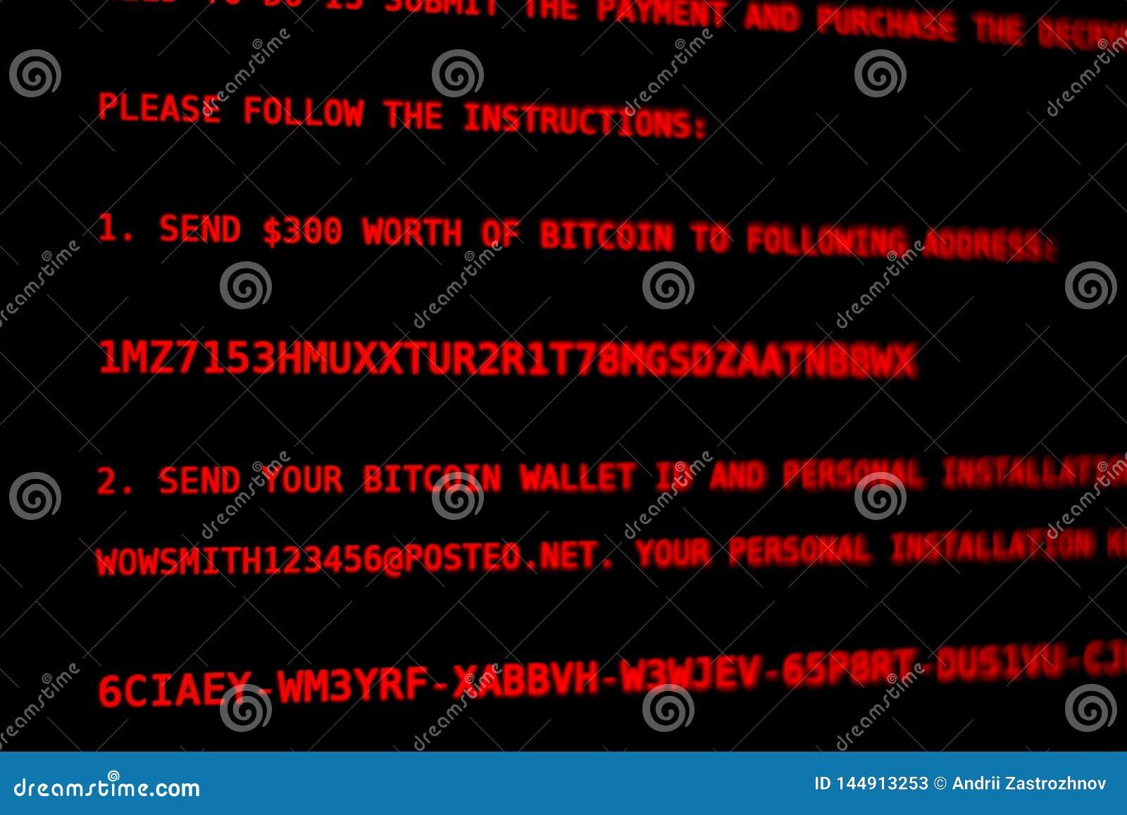Komputerowy wirus Petya A Parawanowy wydarcie pieniądze
