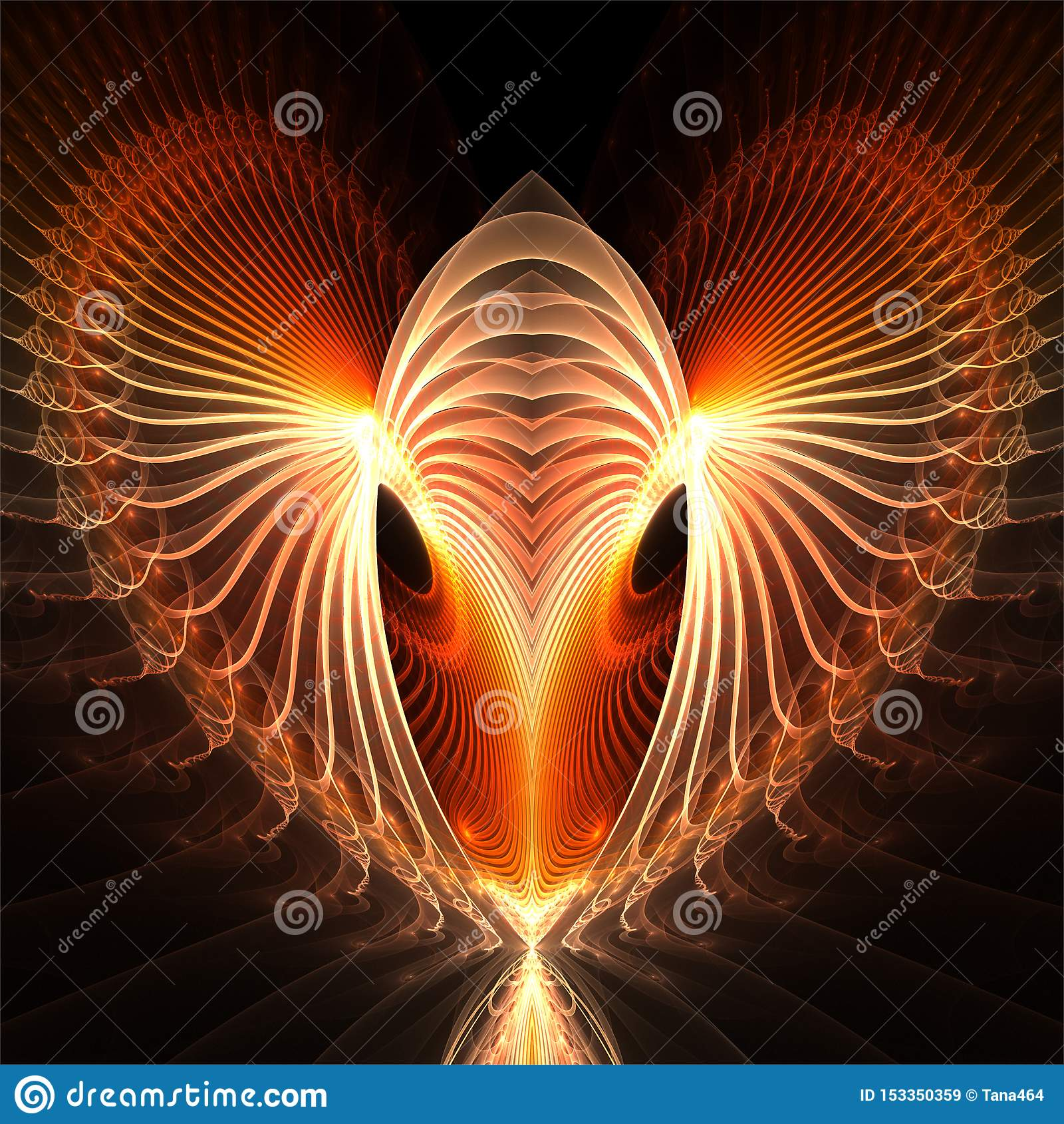 Komputerowych cyfrowych fractal sztuki abstrakcjonistycznych factals fantastyczny czerwony serce