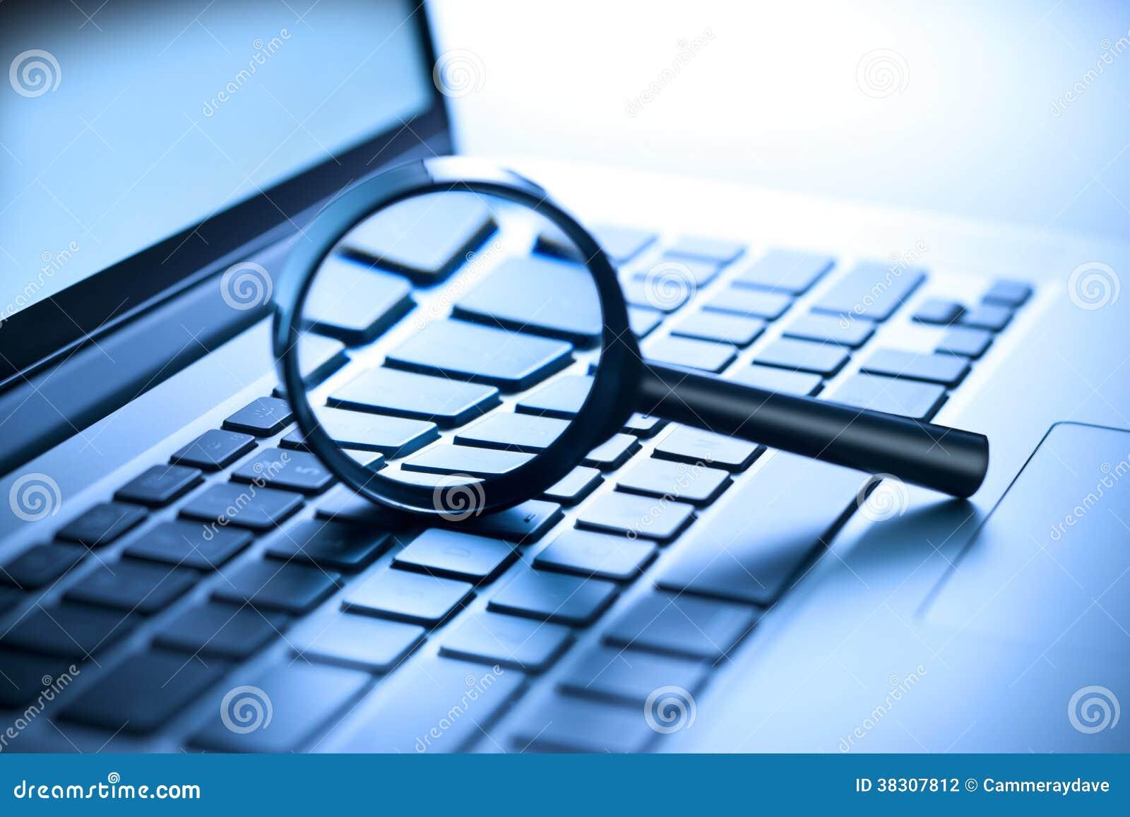 Komputeru Powiększać - szklana ochrona
