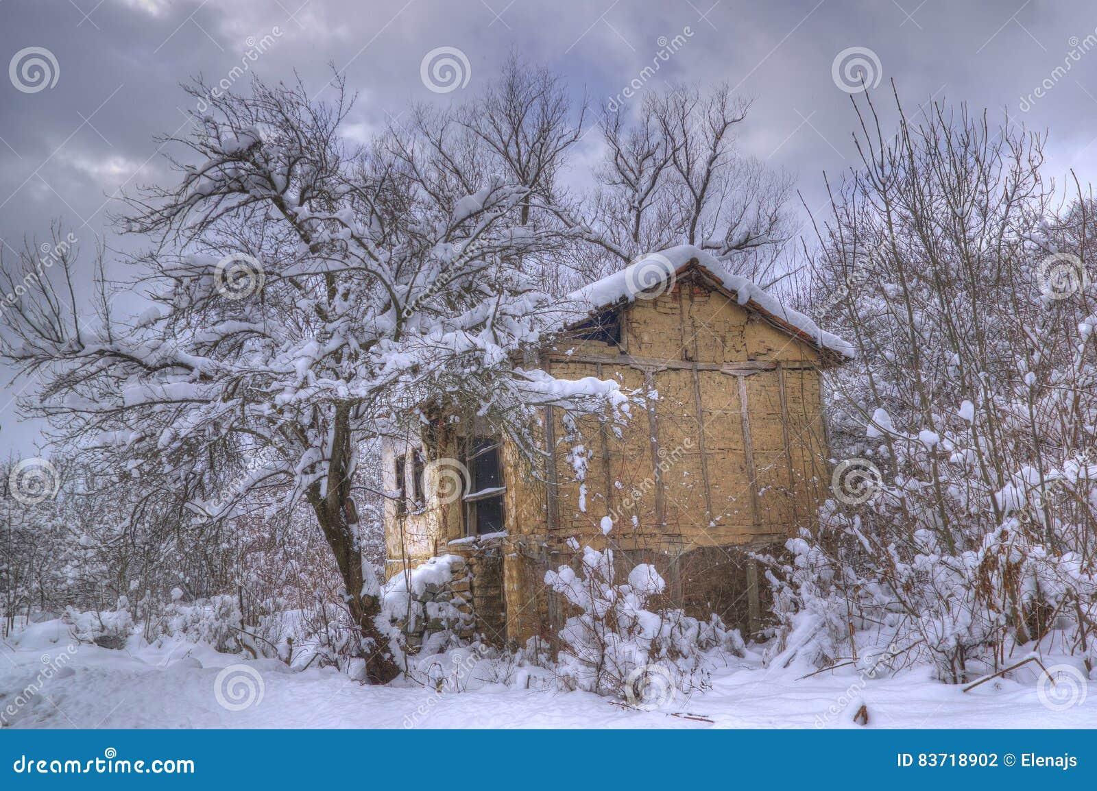 Komshtitsa Village, Bulgaria - Winter Picture Stock Photo