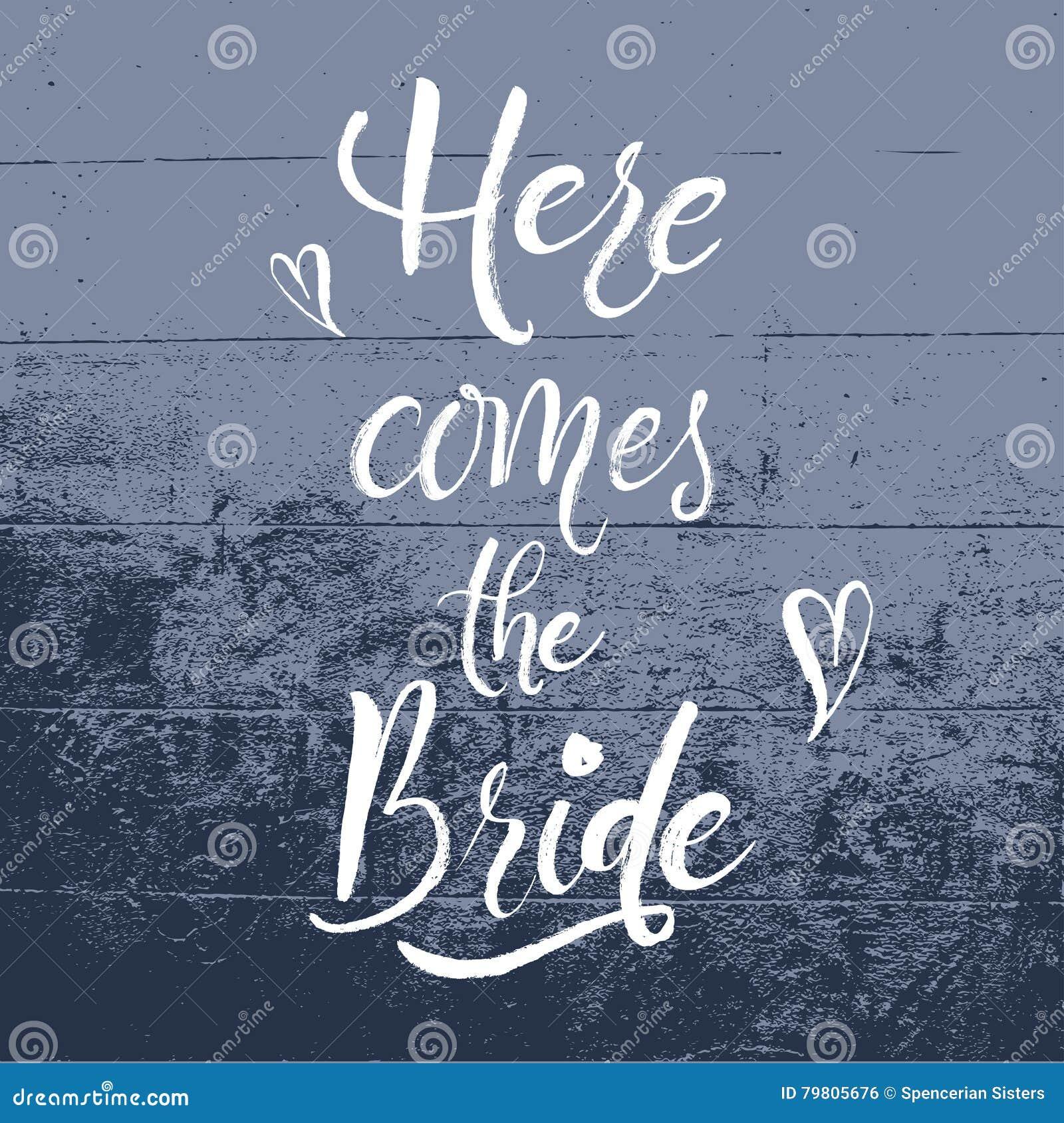 Citaten Schrijven Free : Komt hier de bruid handlettering vector illustratie illustratie
