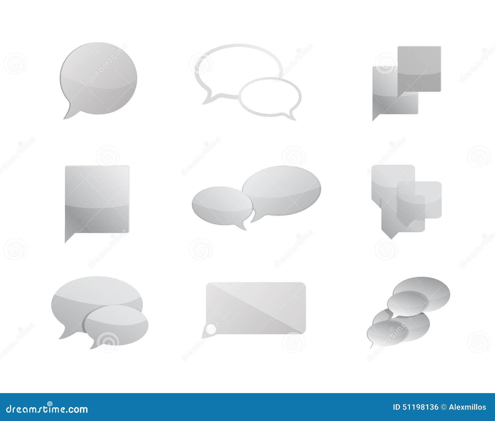 Komunikacja gulgocze ikona ustalonego ilustracyjnego projekt