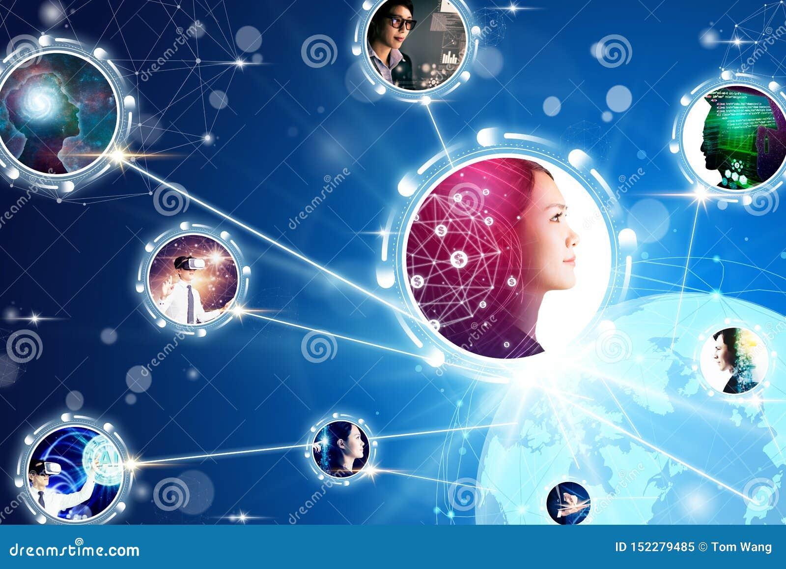 Komunikacji biznesowej i technologii pojęcia