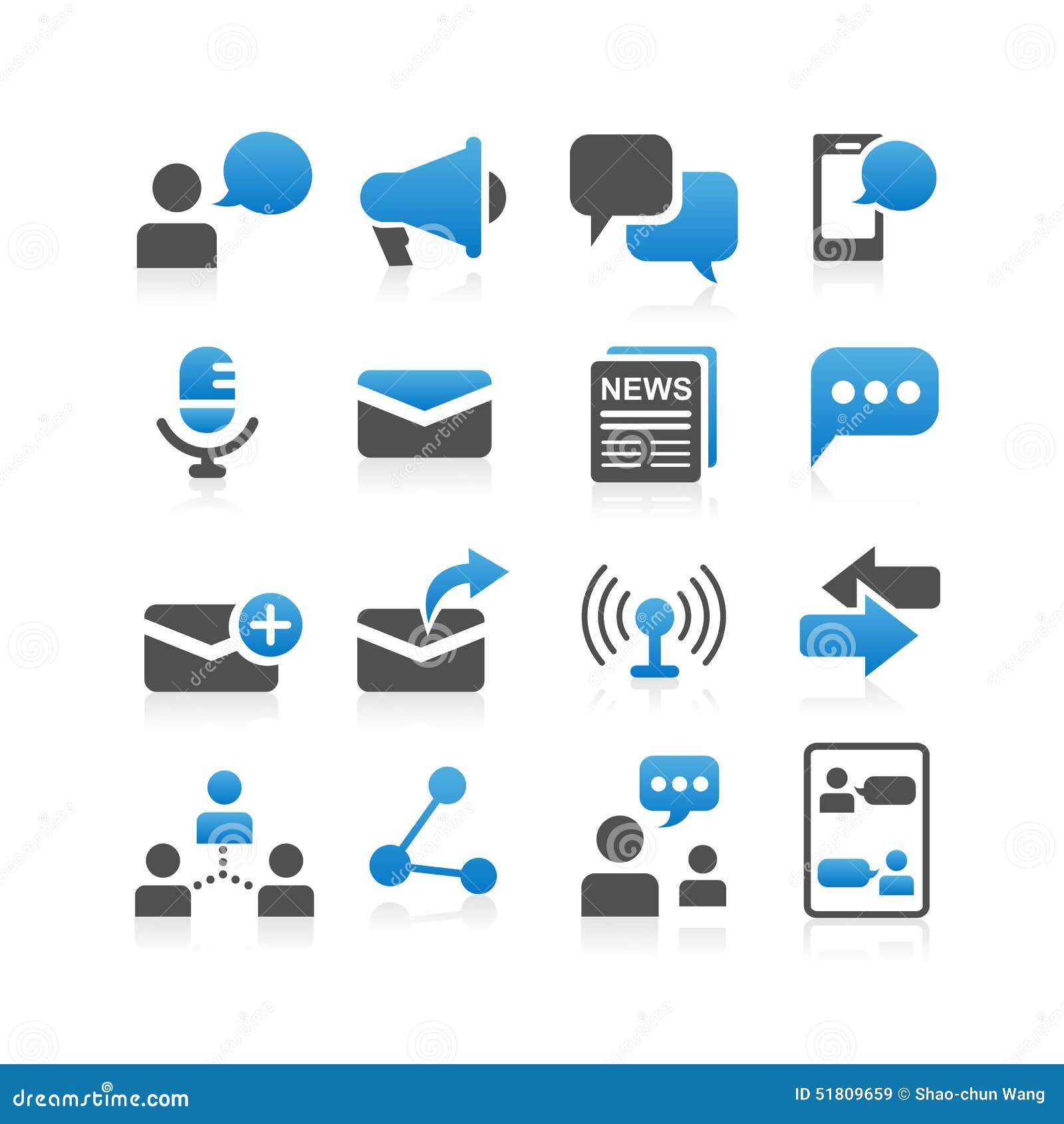 Komunikacyjna pojęcie ikona