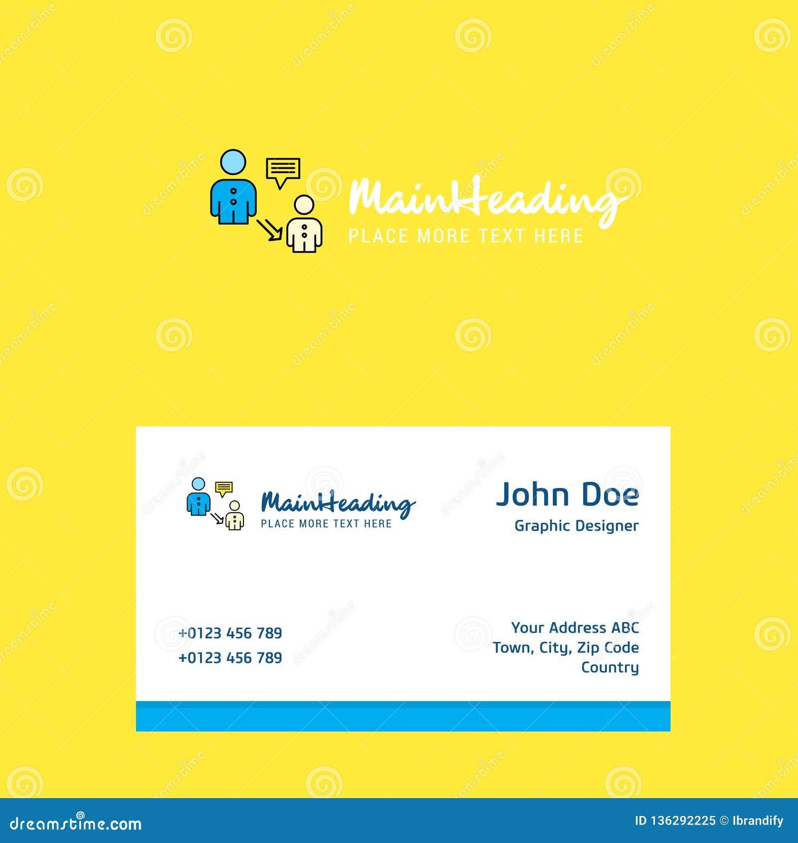 Komunikacyjny logo projekt z wizytówka szablonem Elegancka korporacyjna tożsamość ()- Wektor kartoteka